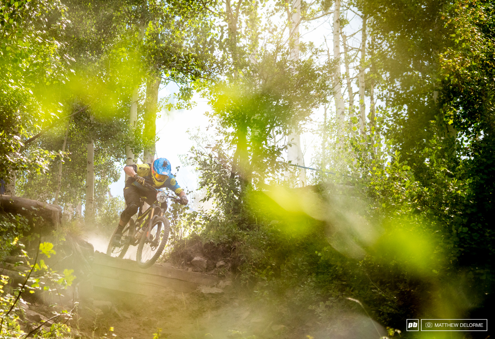Wyn Masters has no issues with loose riding. Here he charges the drops like only a Kiwi can.