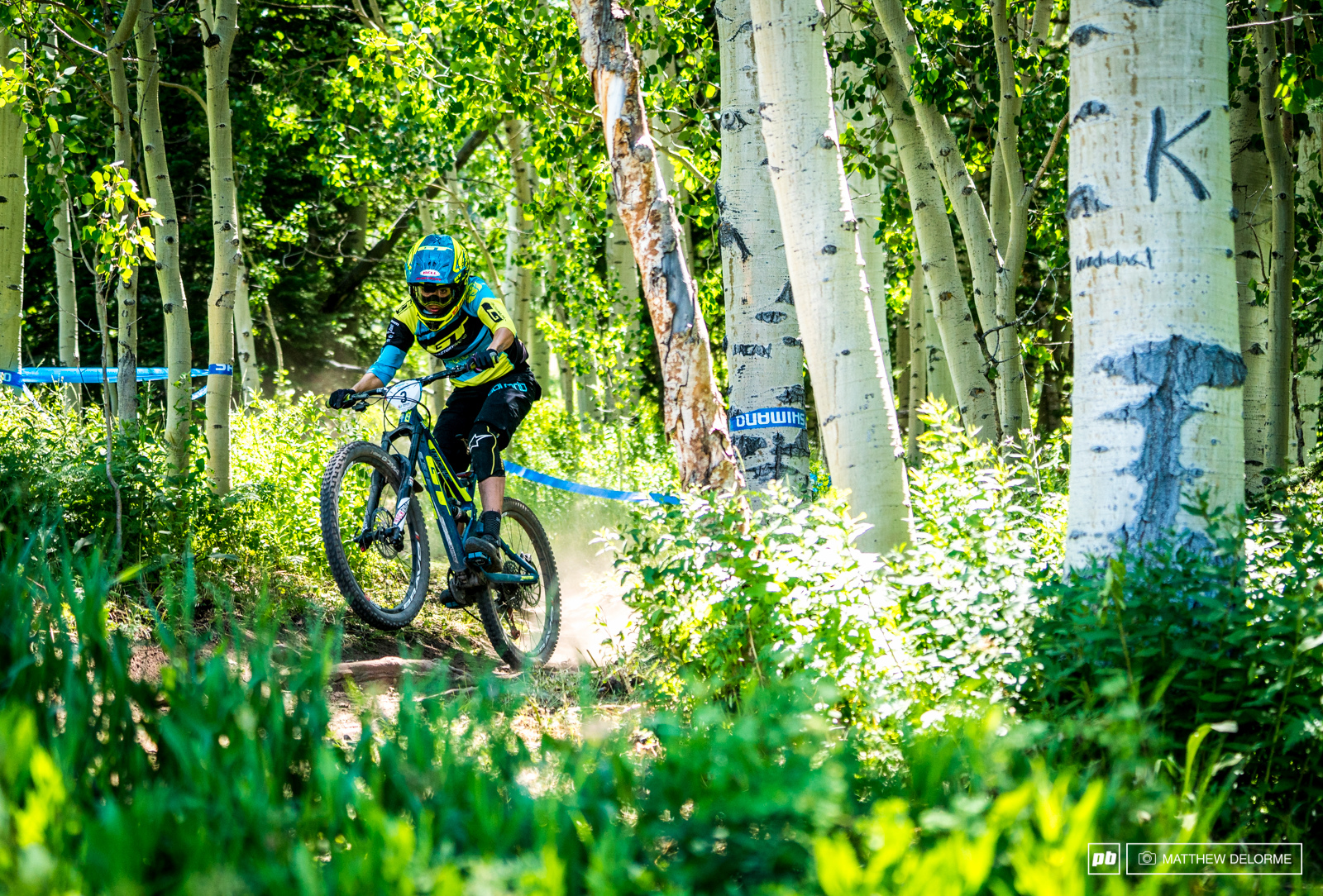 Anneke Beerten looks like like hasn t missed a beat. She was doing well in Colorado last time the EWS was here will she return with a win
