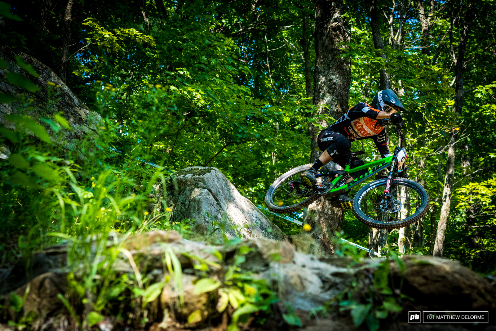 Connor Fearon throws it into the lower half of the big midway woods section.