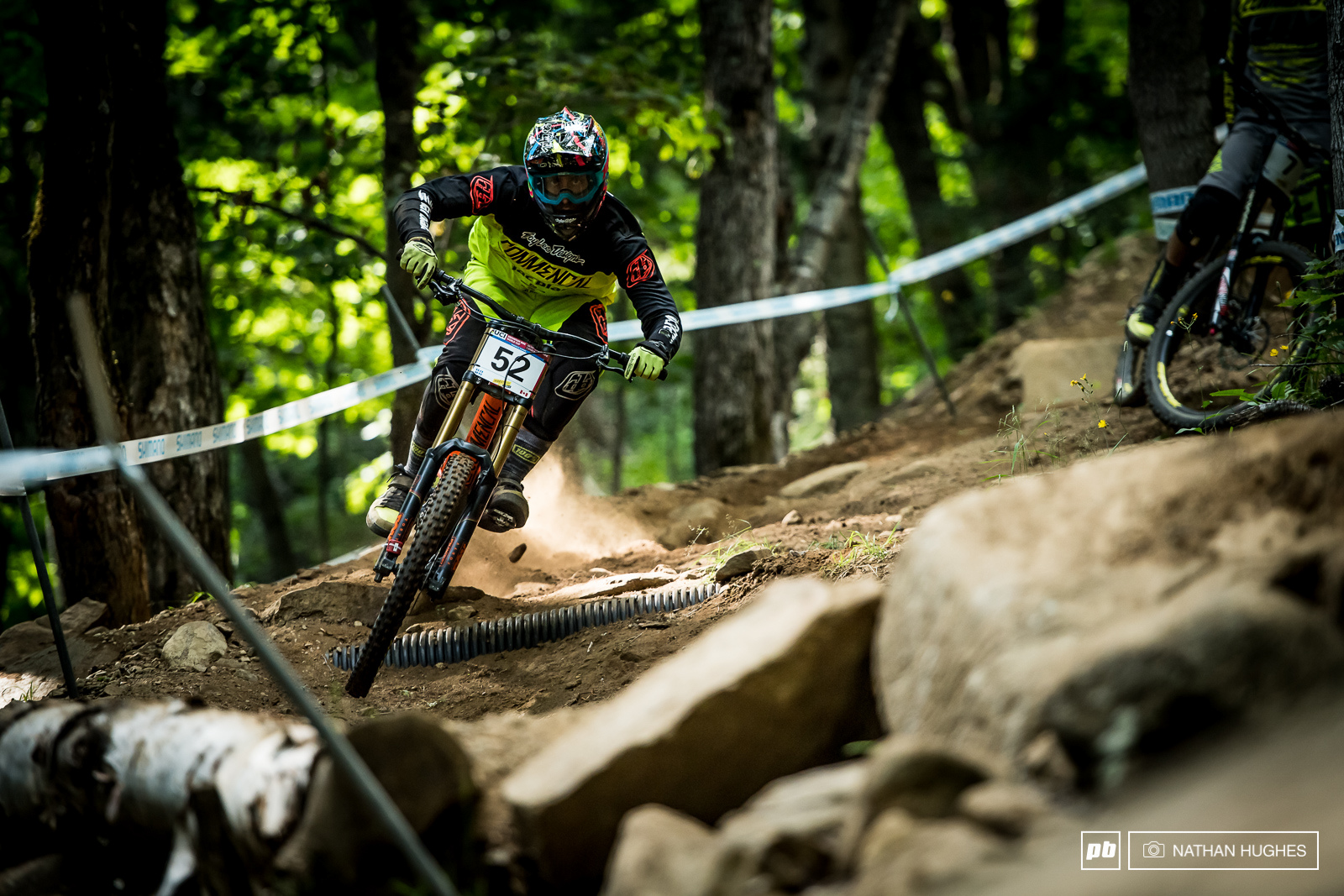 Amaury Pierron was out doing damage to the course today. After crashing out of his come-back run in Lenzerheide the Commencal Lac Blanc has a score to settle.