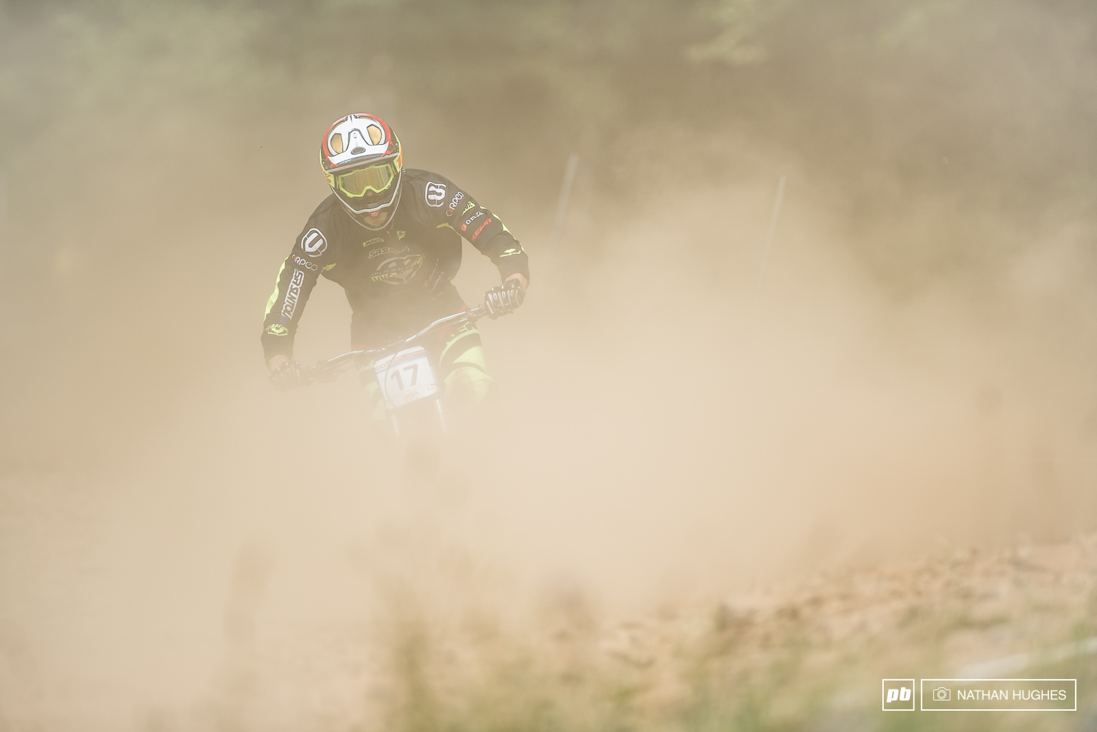Florent Payet lost in a cloud of course fog but still managing to nail 10th place qualie 9.5 seconds back.