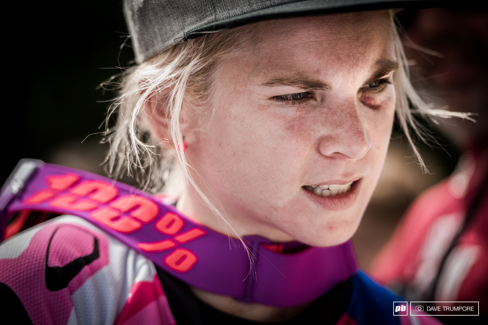 Black eye and all Tracey Hannah dug deep after taking some pretty had hits this weekend. Finish second to Rachel Atherton and inching closer to second in the overall as well.