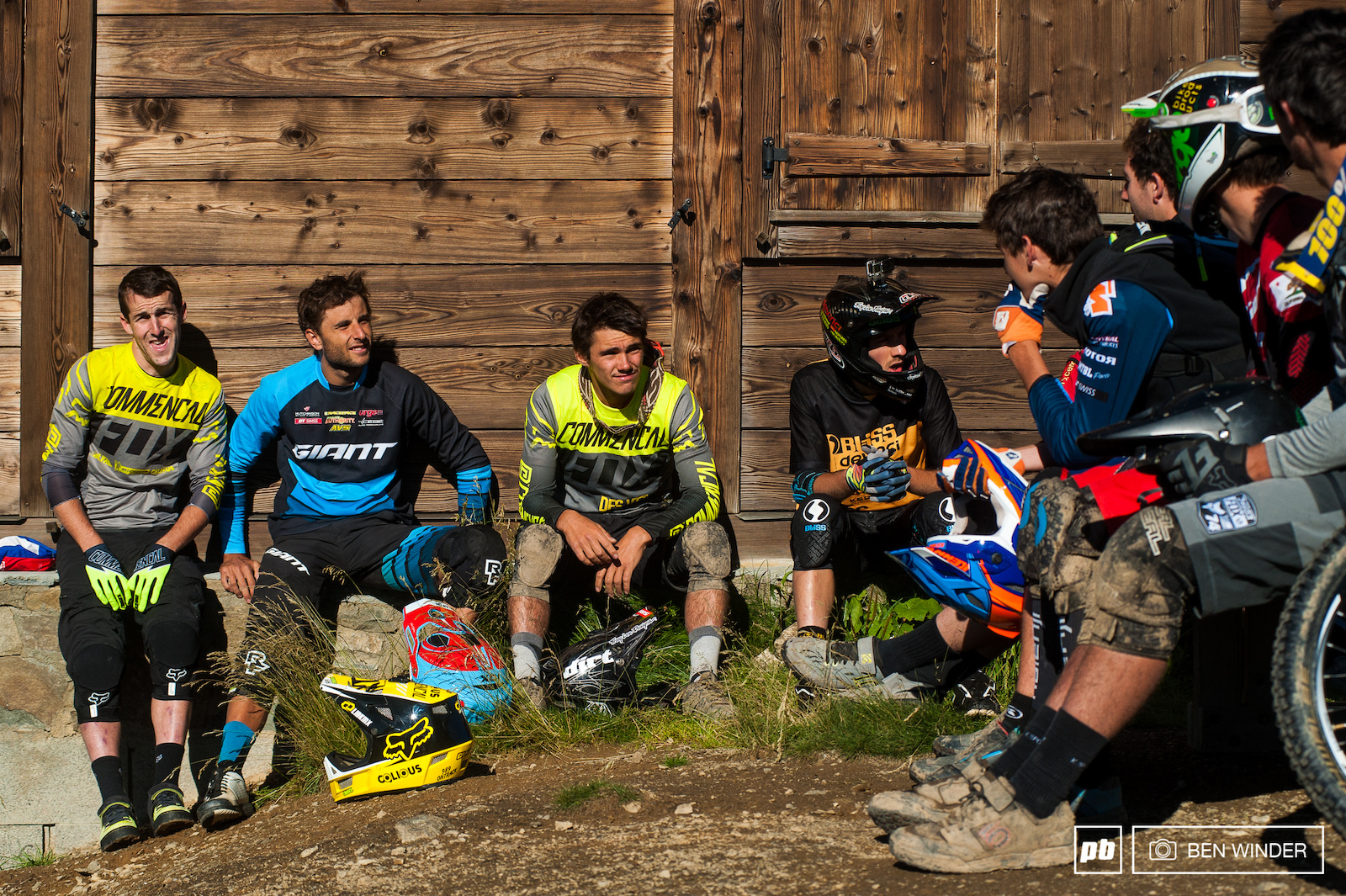 At these races there s a friendly vibe all the riders are friends and hang out together. At the top of the mountain the riders spoke about yesterday s riding and also what today might hold.