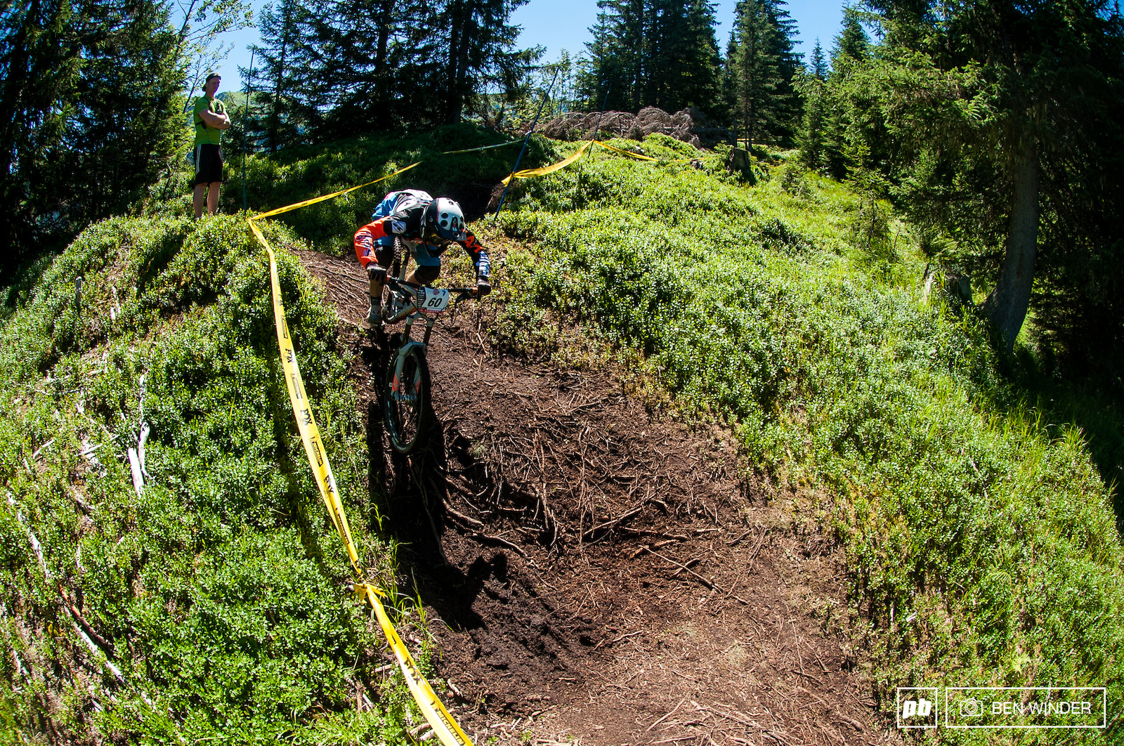 And dropping back in midway down the first stage is like a rooty pumptrack.