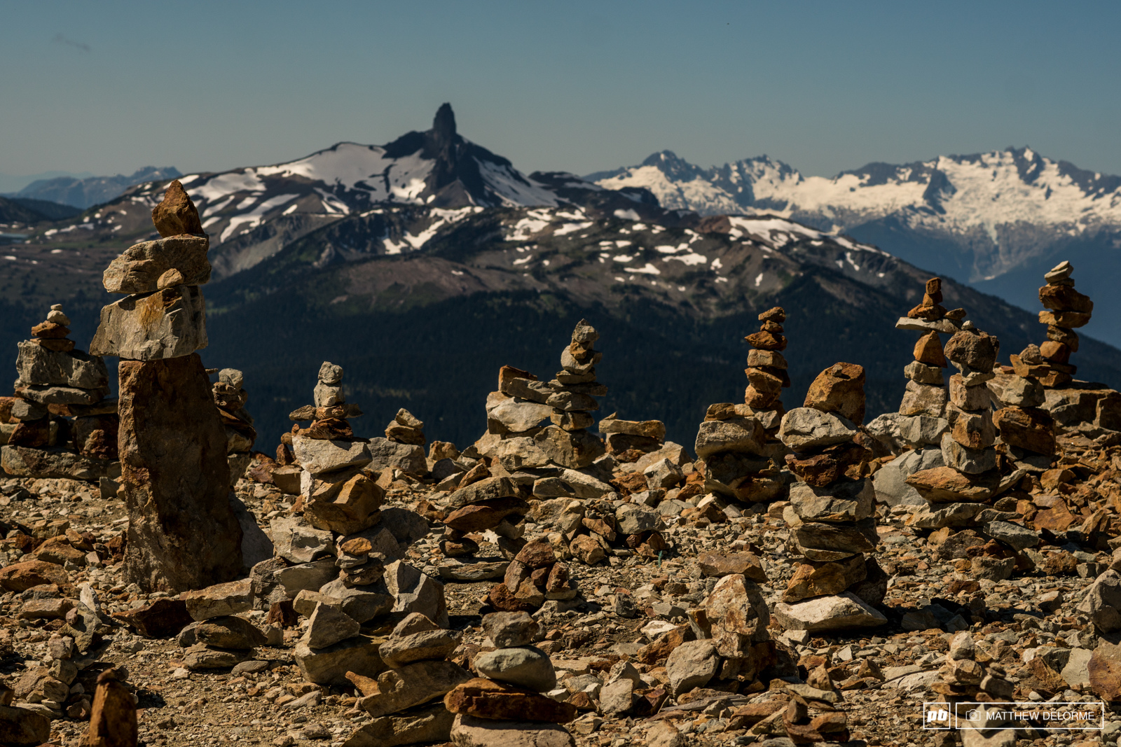 Black Tusk and lucky cairns. The views are breath taking and the stages are sublime.