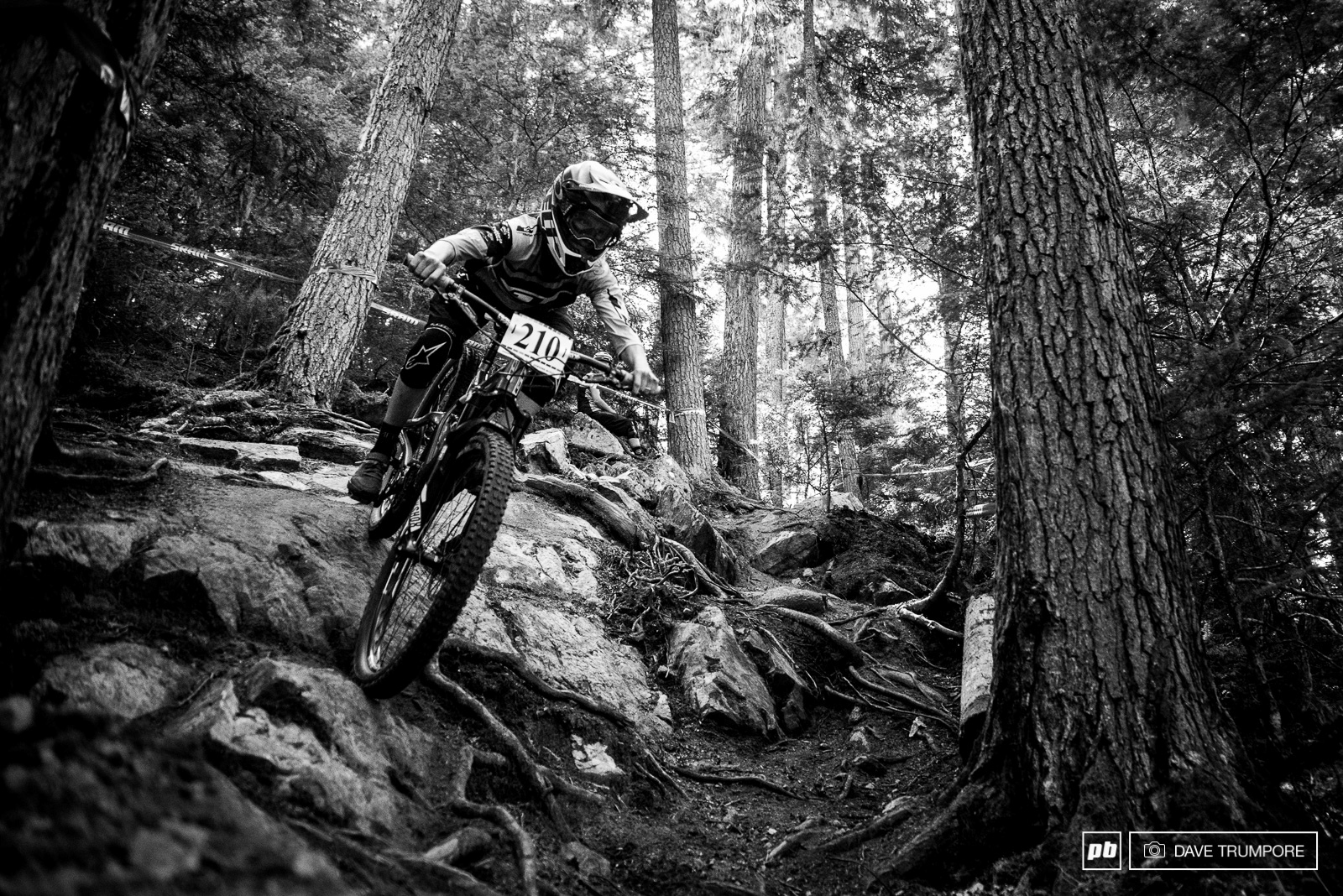 With every race Rachel Throop get a little more confident riding even the gnarliest of lines with authority.