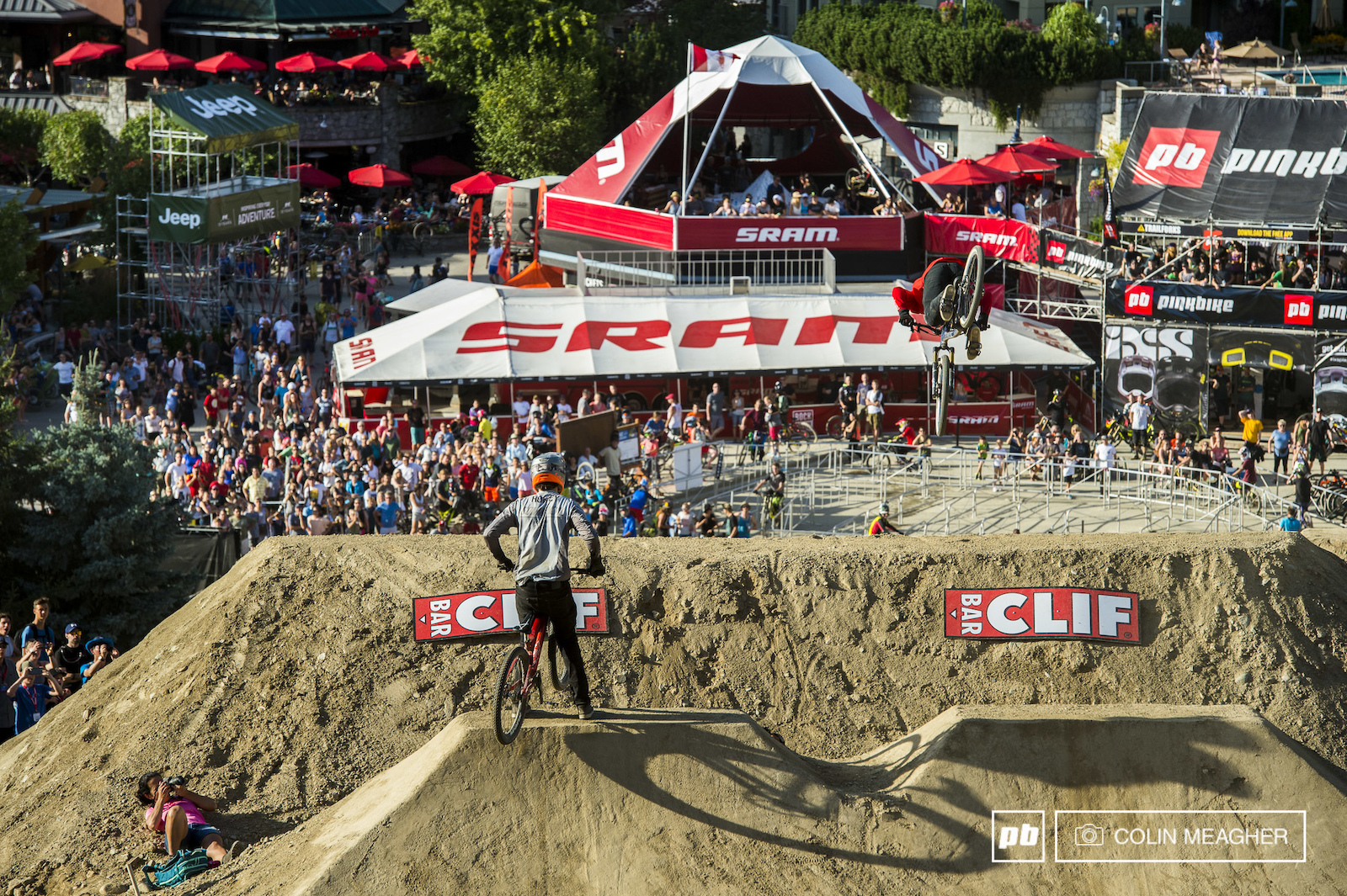 Branden Howey slipped in the same dust that took out Storch. On the lip of the second jump all Howey could do was watch the other Van Steenbergen front flip to victory for the round.
