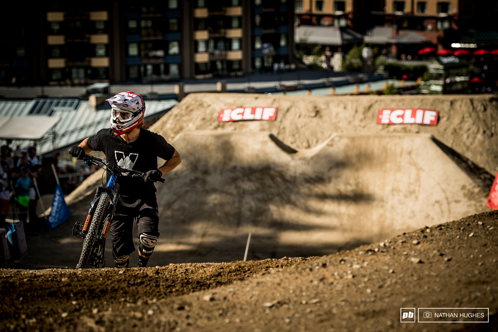 Adrien Loron didn t have the speed and style fortune he hoped for but luckily there s always the brand new pumptrack set-up in the days ahead for a top result.