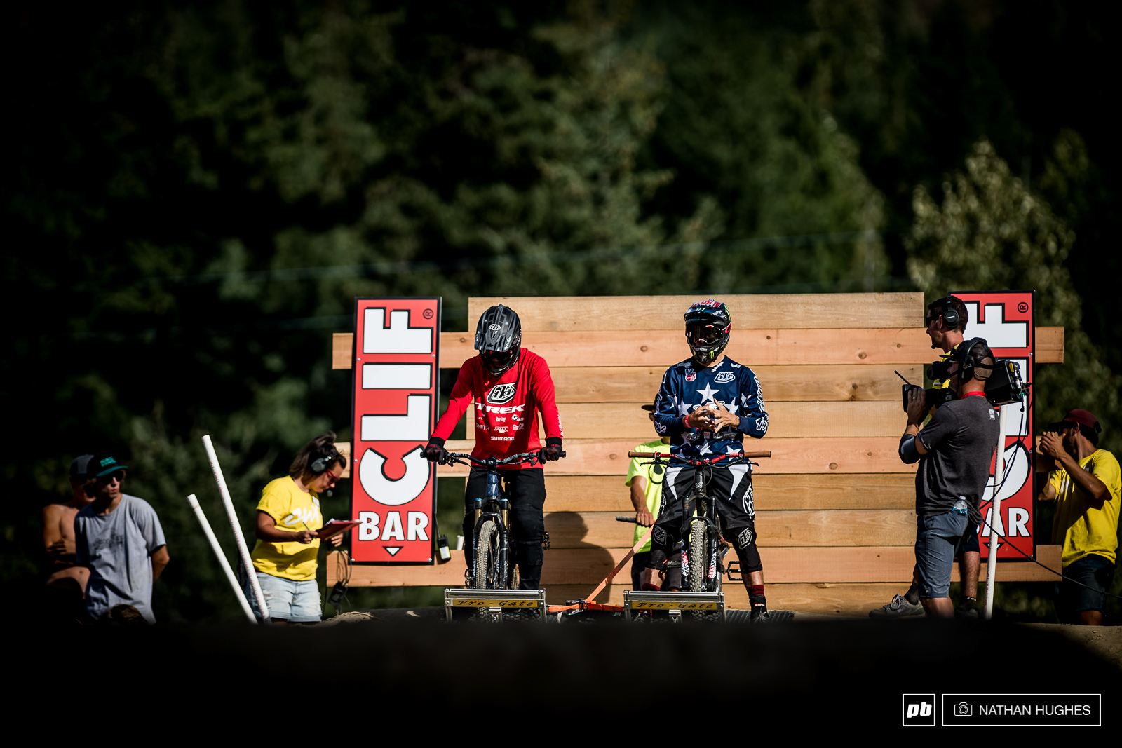 Cam Zink and Tom Van Steenbergen in the gate.