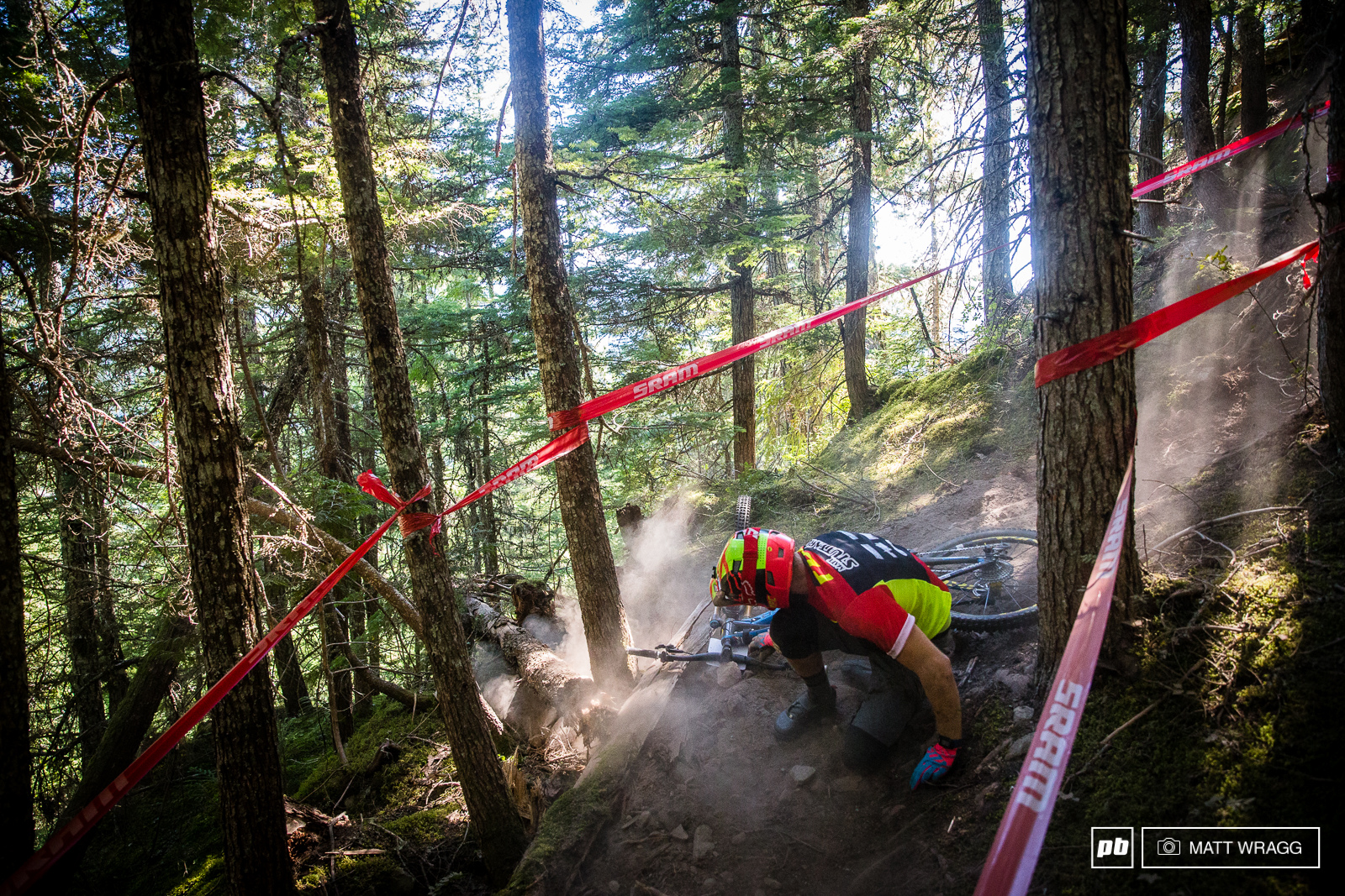Matt Stuttard once again got people talking today - apparently he was visibly faster than anyone else through the unforgiving chute on stage four that claimed some of the world s best. Unfortunately he then dropped it a couple of corners later on a relatively easy section.