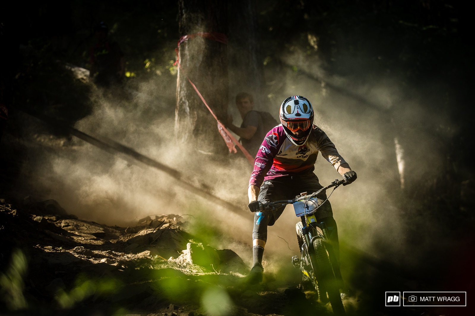 It all went wrong for Flo Nicolai on stage four as a crash on the big chute spelled an end to his race.