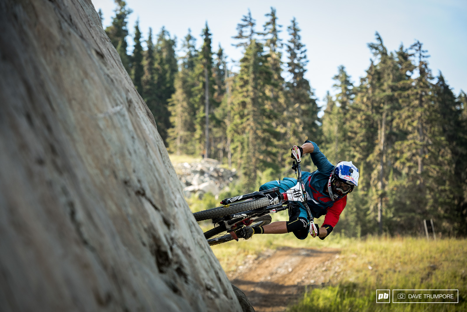 Matti Lehikoinen knows that when you ride a bike park track on stage one you have to bust out the bike park moves. Matti would finish the day in 15th inching closer and closer to that elusive top 10.