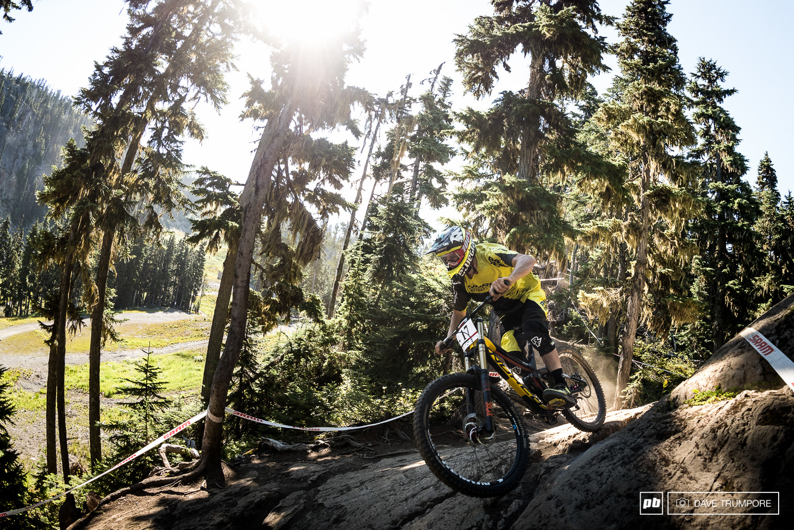 Sam Blenkinsop has quietly made a name for himself as one of the strongest and finest riders out there so it was never in doubt that he had what takes to perform in the Garbo DH.