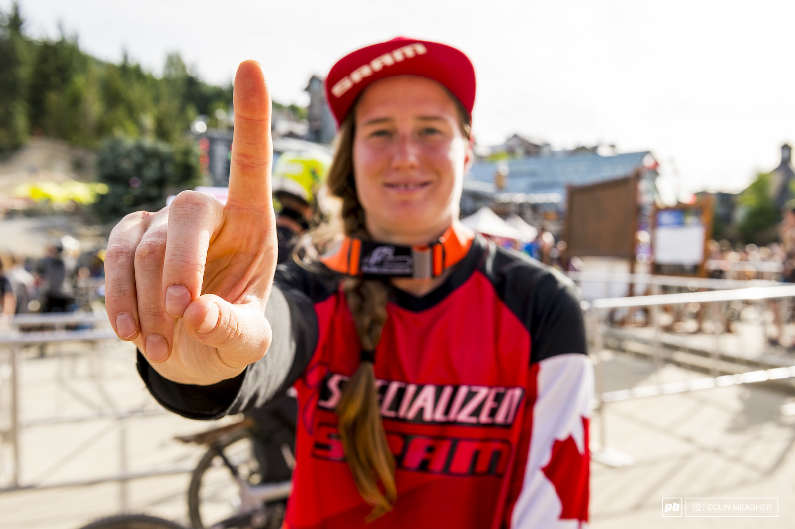 Fully recovered from two broken arms a year ago Miranda Miller has consistently worked her way up to being a consistent podium threat. That confidence carried Miller through today for the win in the Garbo DH.