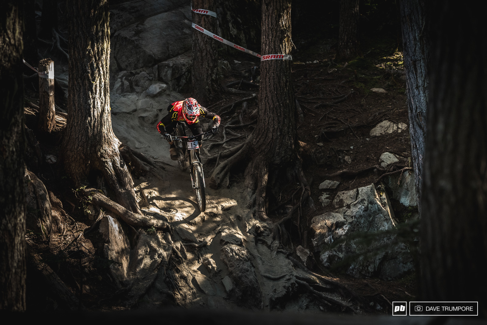 A pre-race favorite coming into Crankworx Marl Wallace would smash his way down for 7th.