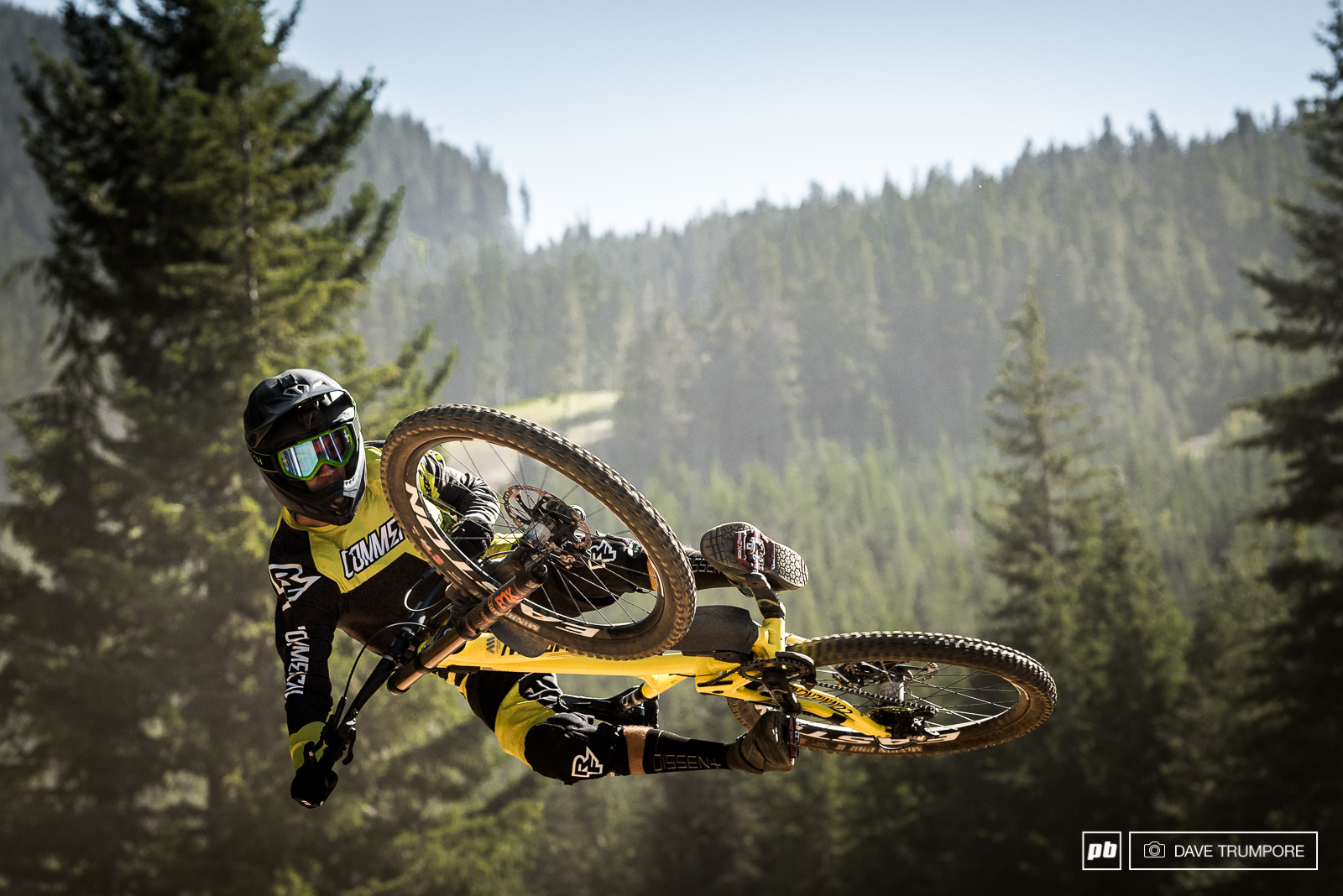 Remy Metailler is no stranger to getting sideways in the bike park.