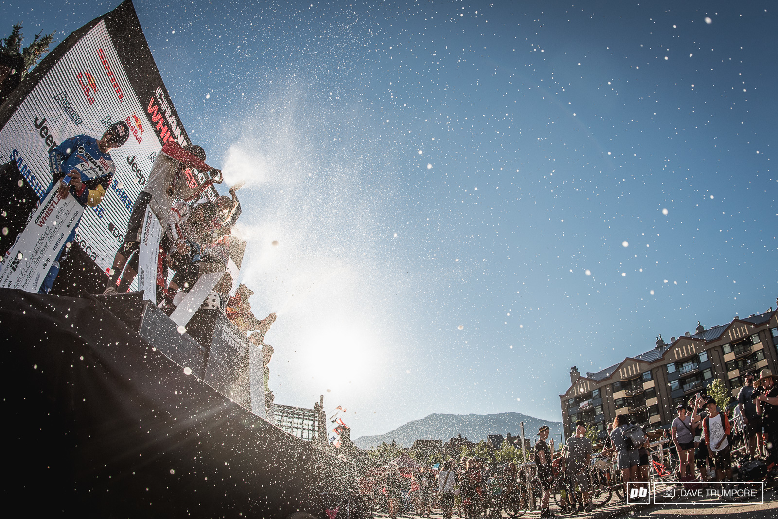 The only moisture Whistler has seen this week has been champagne raining down from the podium.