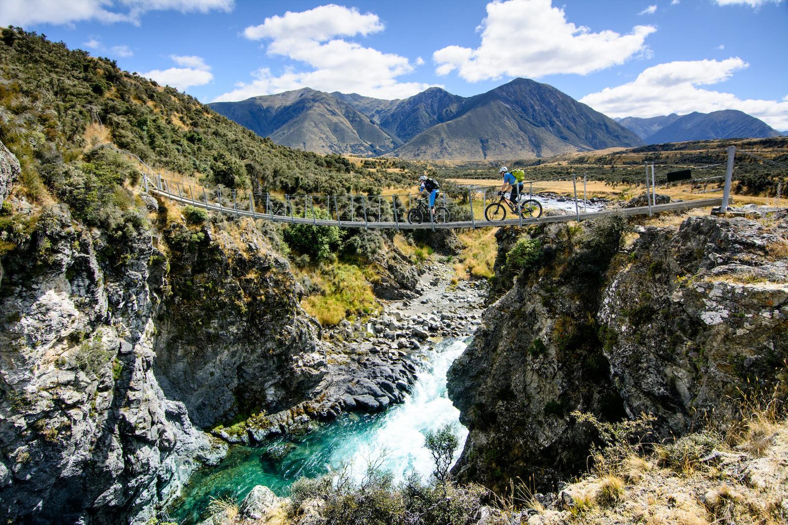 Backcountry biking through vast landscapes of St. James, New Zealand
