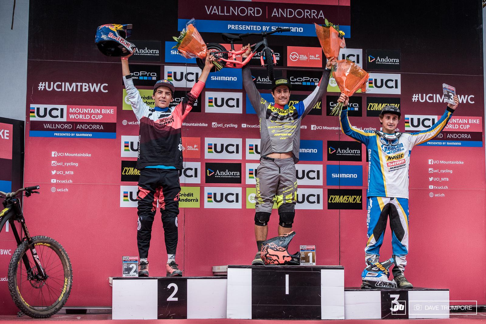 The top three juniors in Andorra.