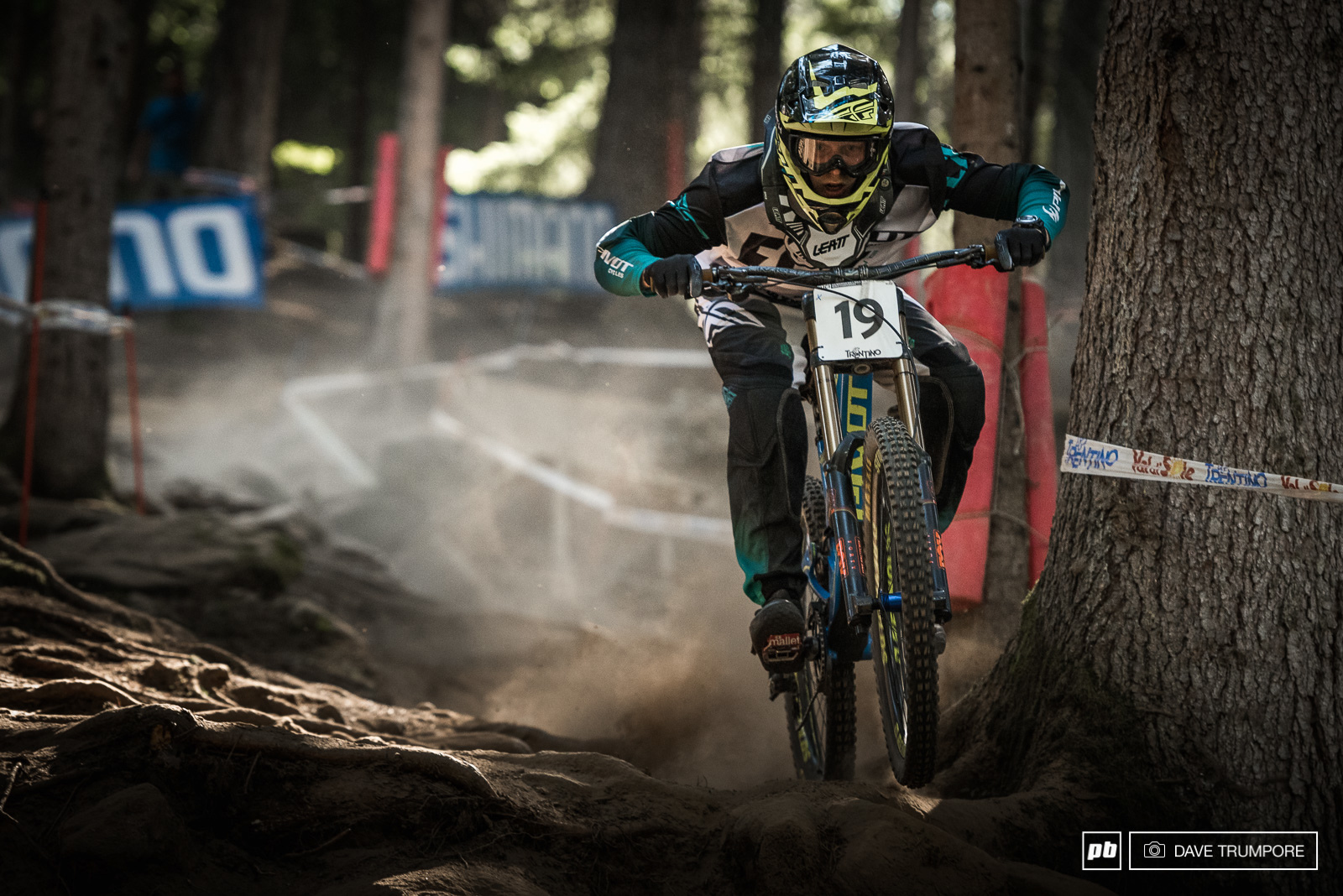 Bernard Kerr took to track today after Gee Atherton backed out of the race due to injury.