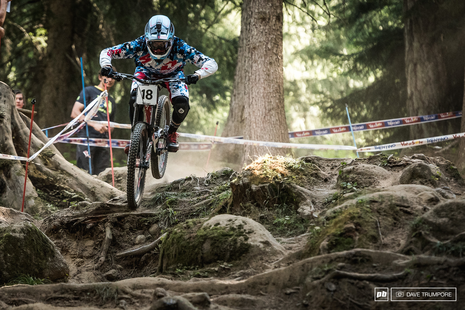 Loris Vergier floating over the gnar.