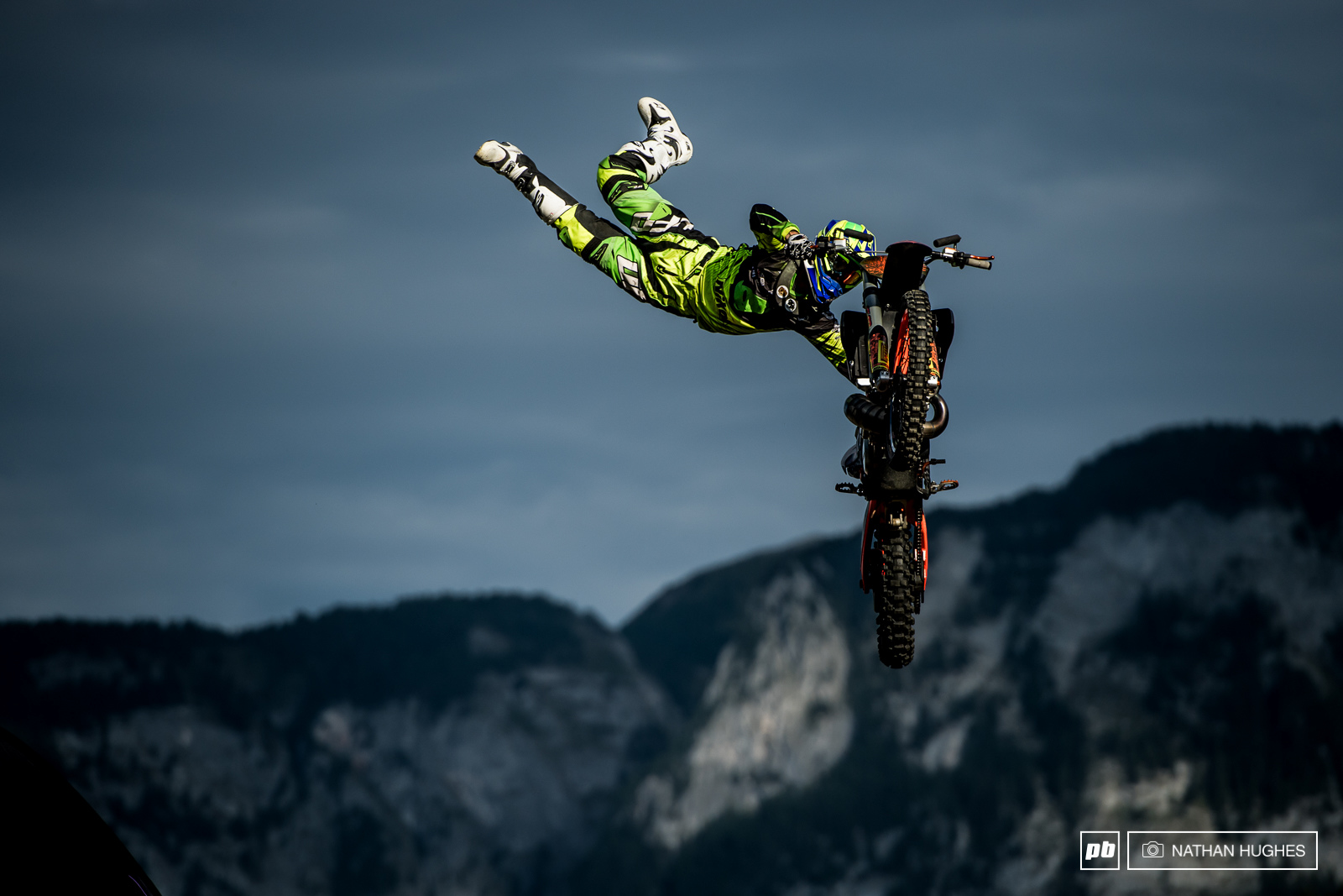 Some solid finish jump inspiration for any riders crashing on their race runs this Sunday...