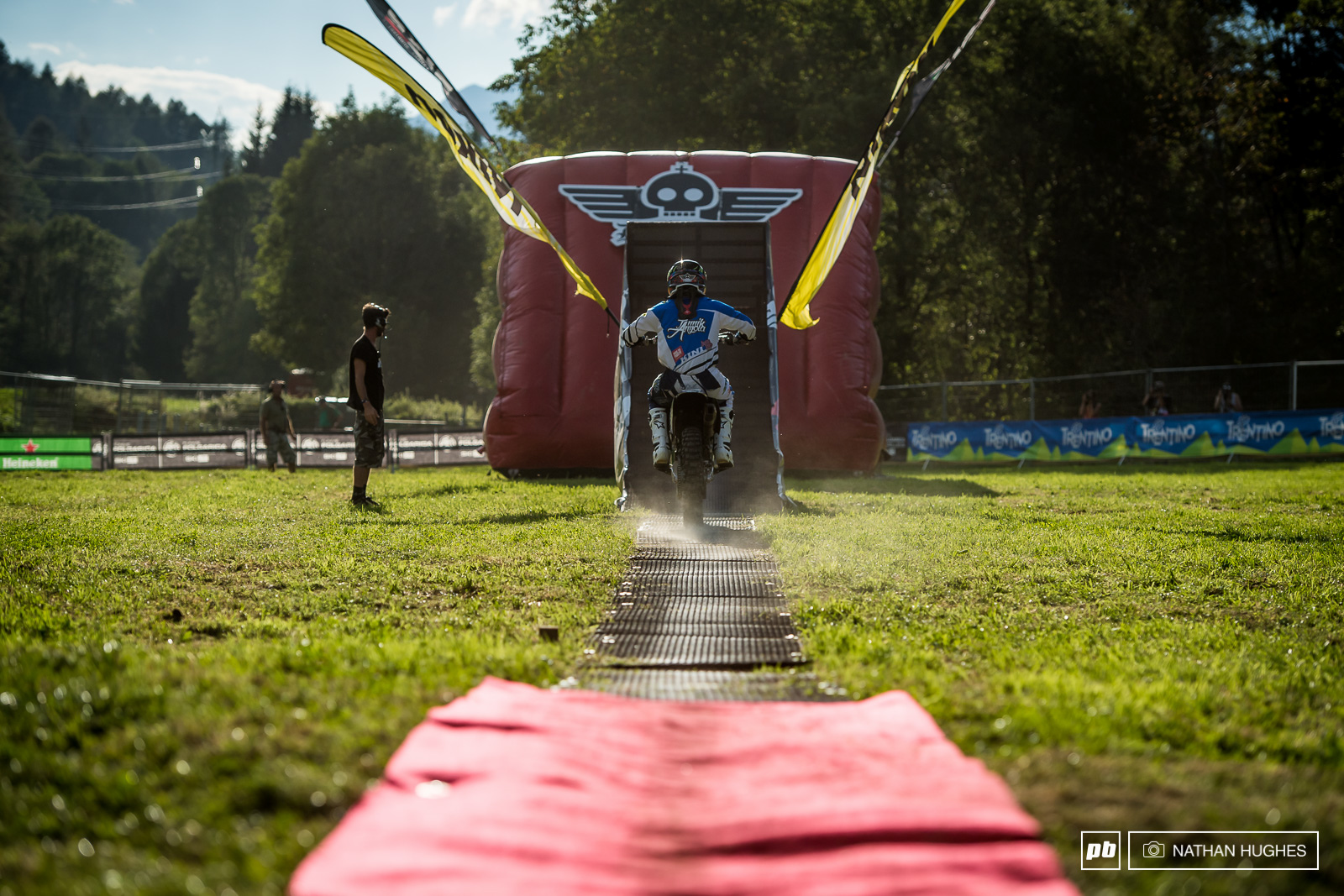 Val di Sole organisers put on a Freestyle Moto show today after the training sessions.