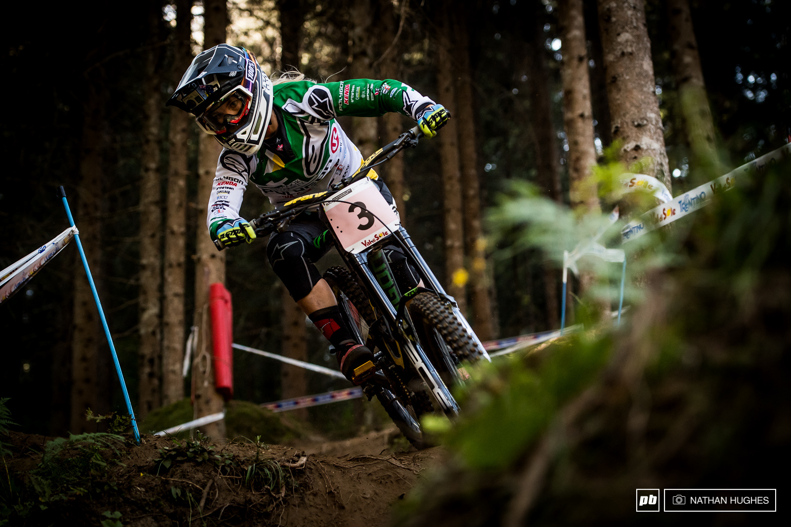 Less than a second from gold... Tracy Hannah was right up on Rachel Atherton in second place today. Maybe Atherton has more to give we hear you say.... well maybe Hannah does too.