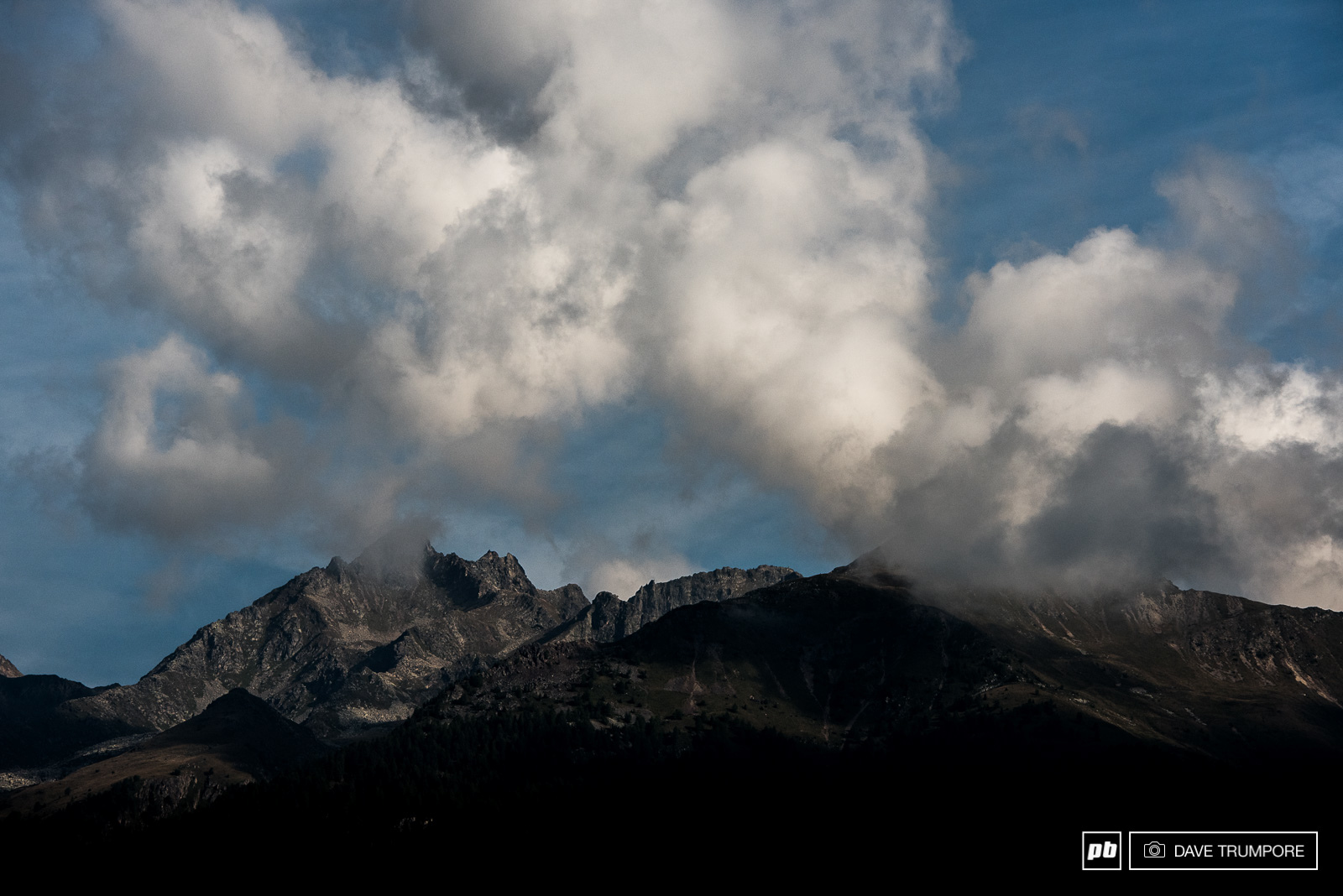 Clouds would build all day but luckily no rain would dampen the vibe in Val di Sole.