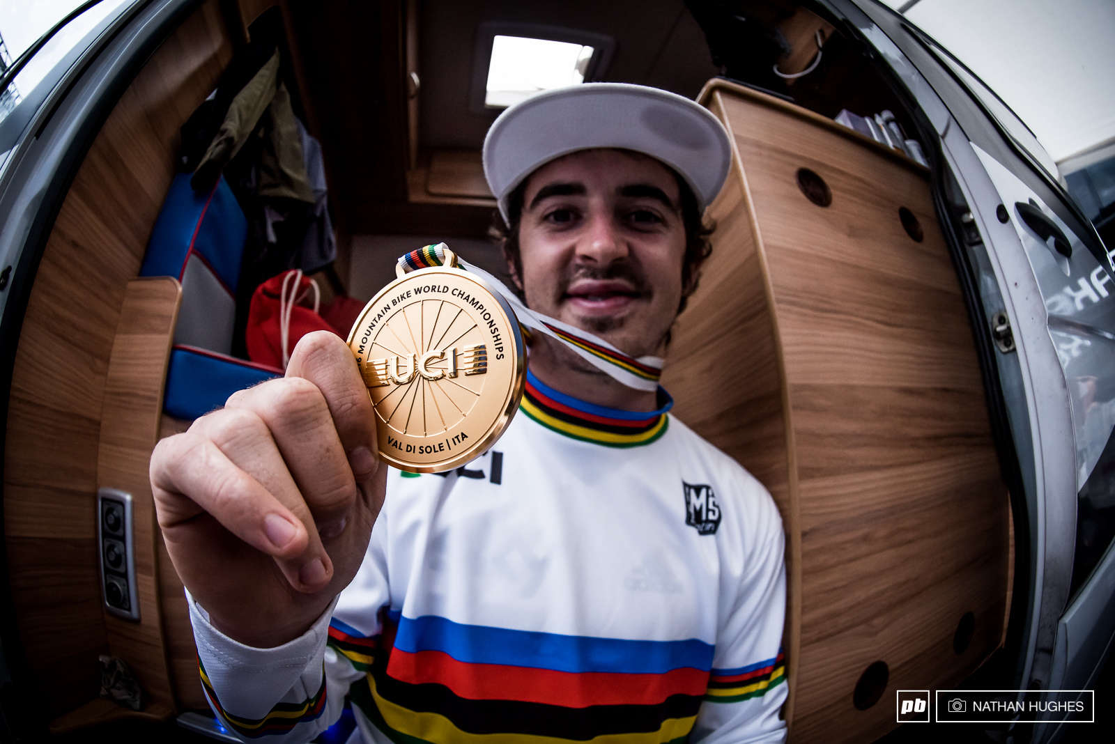 Five years later Danny Hart reclaims the stripes and claims gold here in the Italian dust.