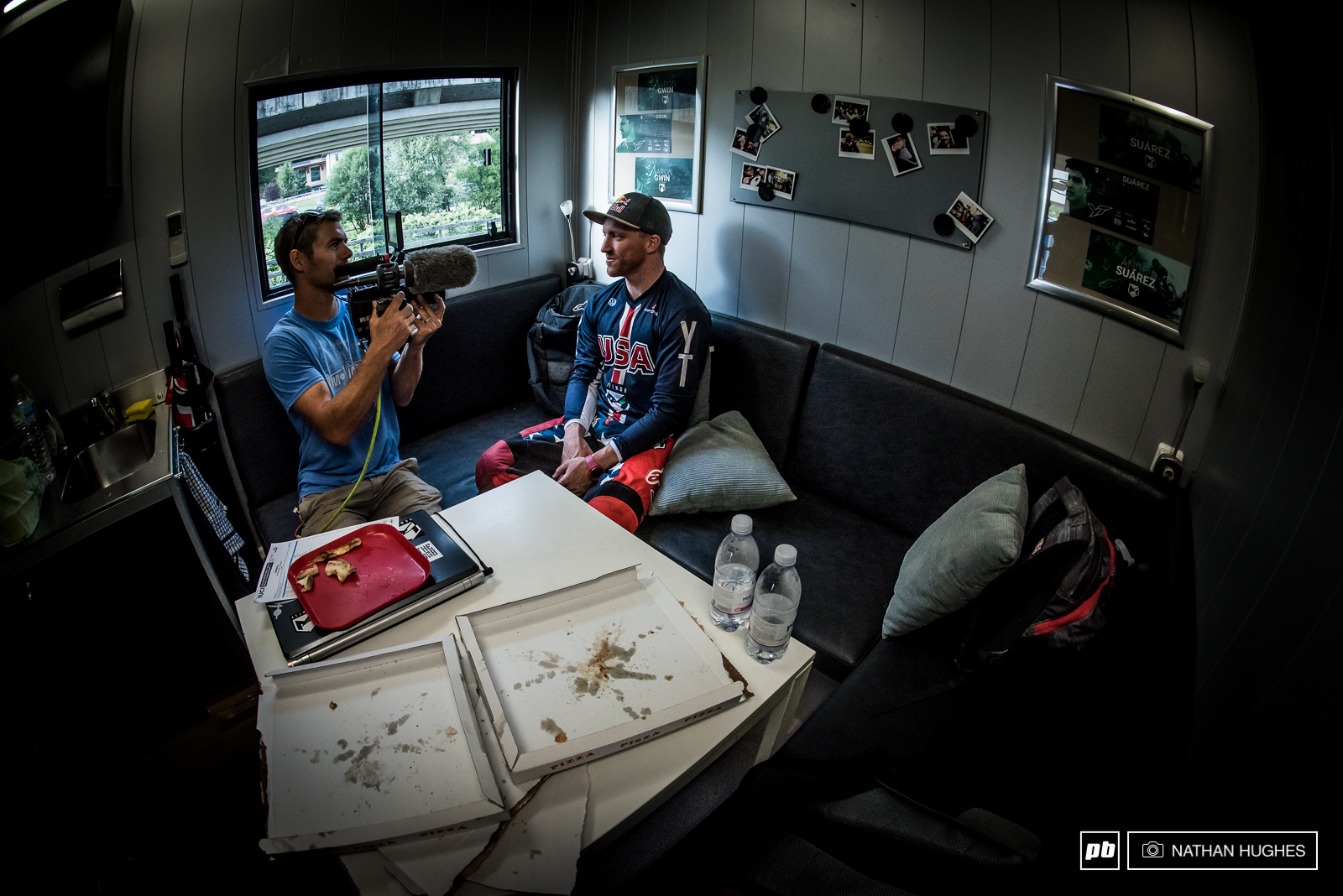 Nothing a high-quality Italian mozzarella pizza can t fix... Aaron talks about his day of bad luck on the hill with Rob Parkin for Red Bull TV.