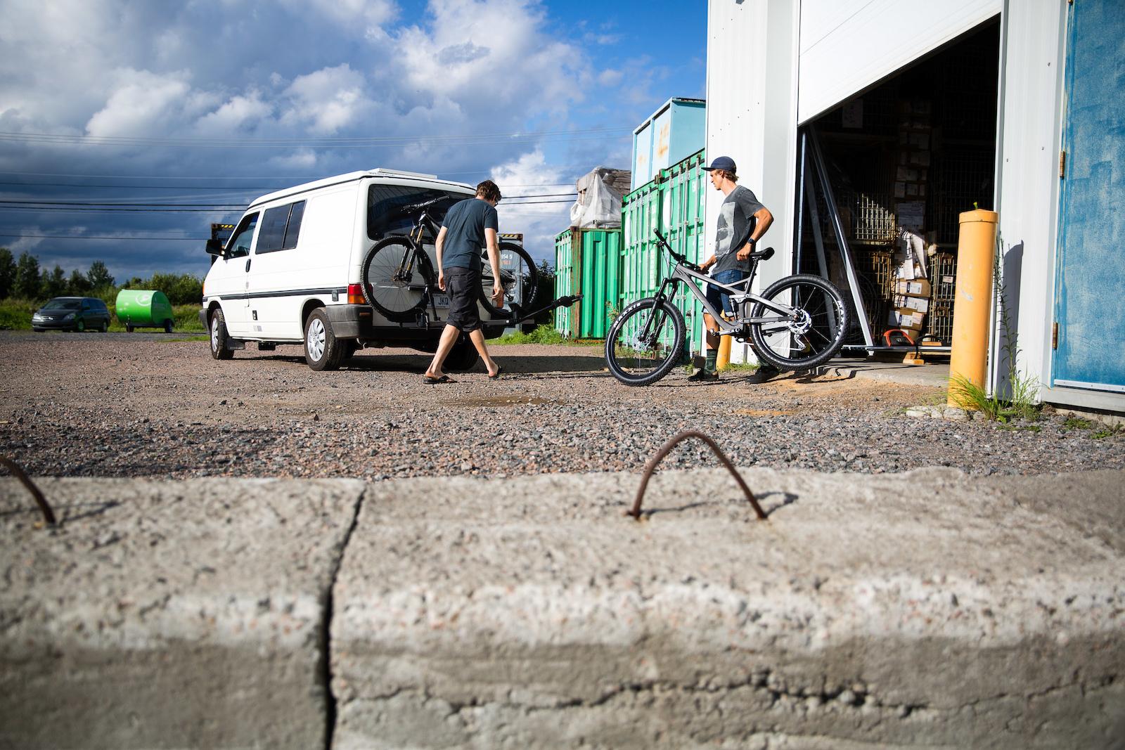 David Regnier Bourque and Julien Boulais load up the whip after work. PHOTO Ben Gavelda