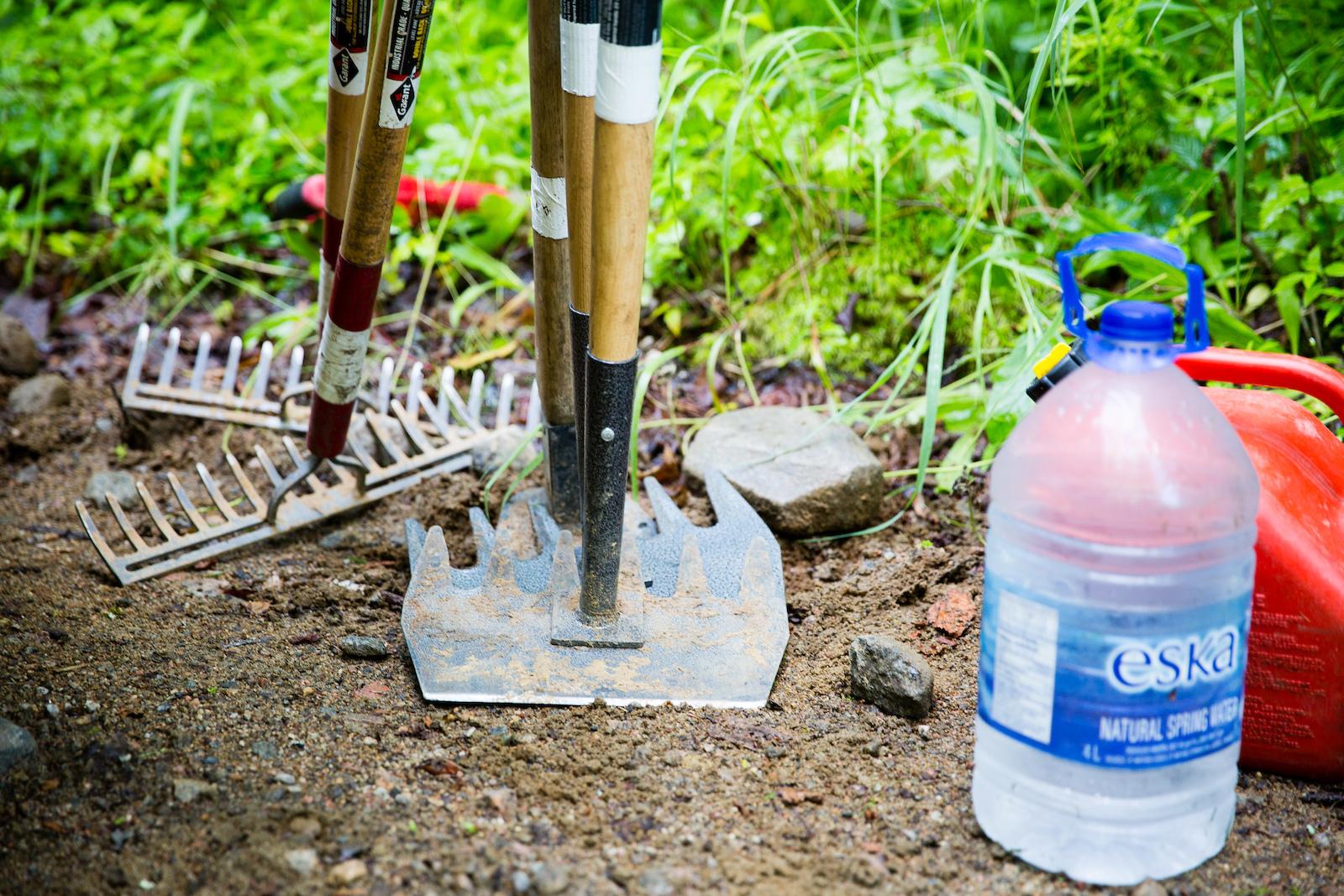 Trail tools. PHOTO Ben Gavelda