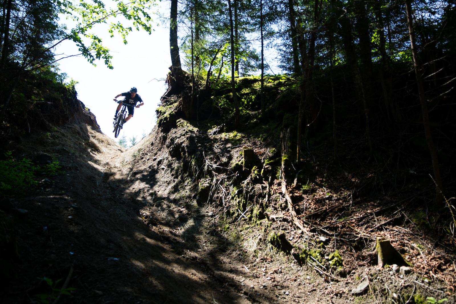 Sam sending it over a blind roll. PHOTO Ben Gavelda