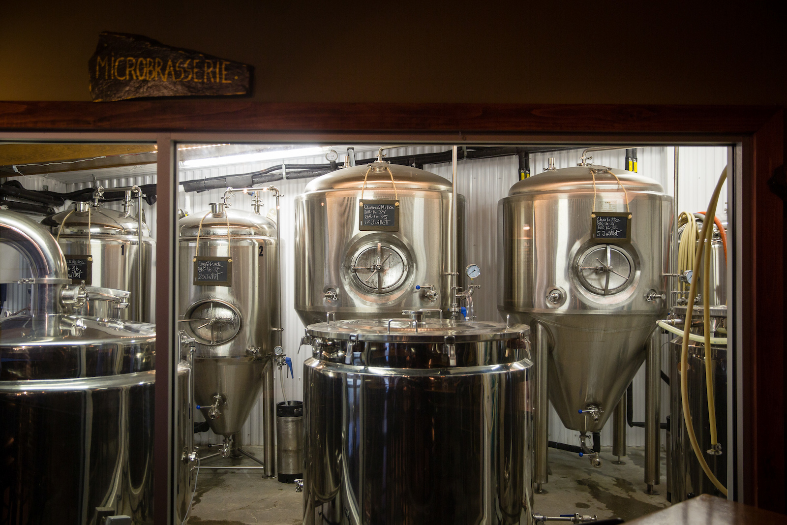 The in-house brews of the Roquemont. PHOTO Ben Gavelda
