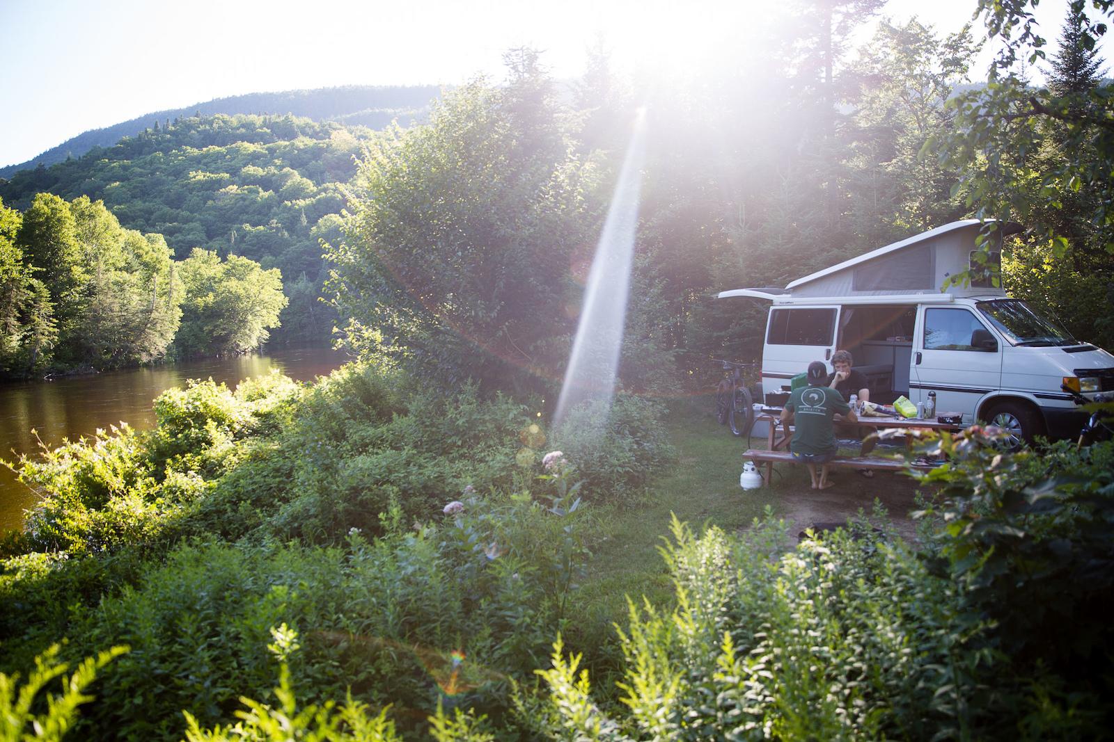 Riverside accomodations near Vall e Bras-du-Nord. PHOTO Ben Gavelda