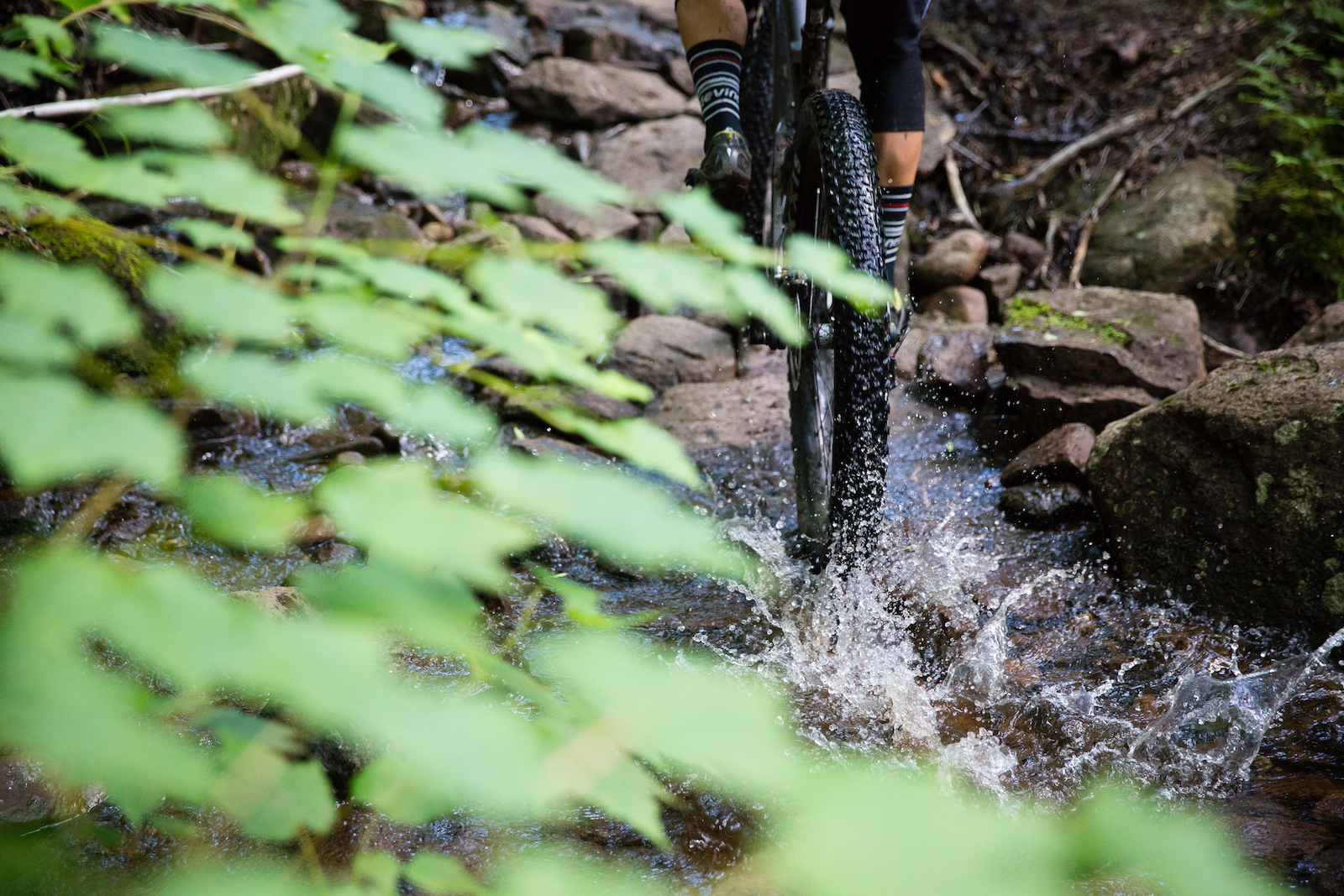 Riverbed like trail at Vall e Bras-du-Nord. PHOTO Ben Gavelda