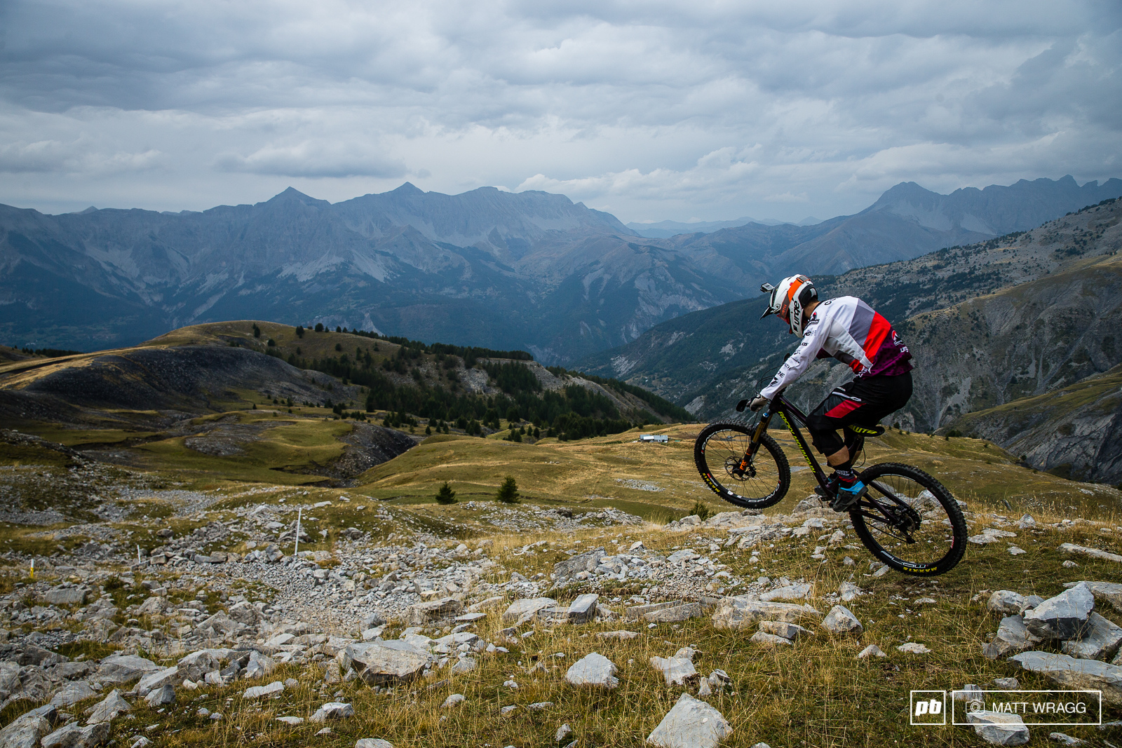 Seb Claquin is still suffering from a sore hand after his rodeo-related accident in Crested Butte. The 1 100m drop stage three is going to be a real test for him but he s nothing if not tough.