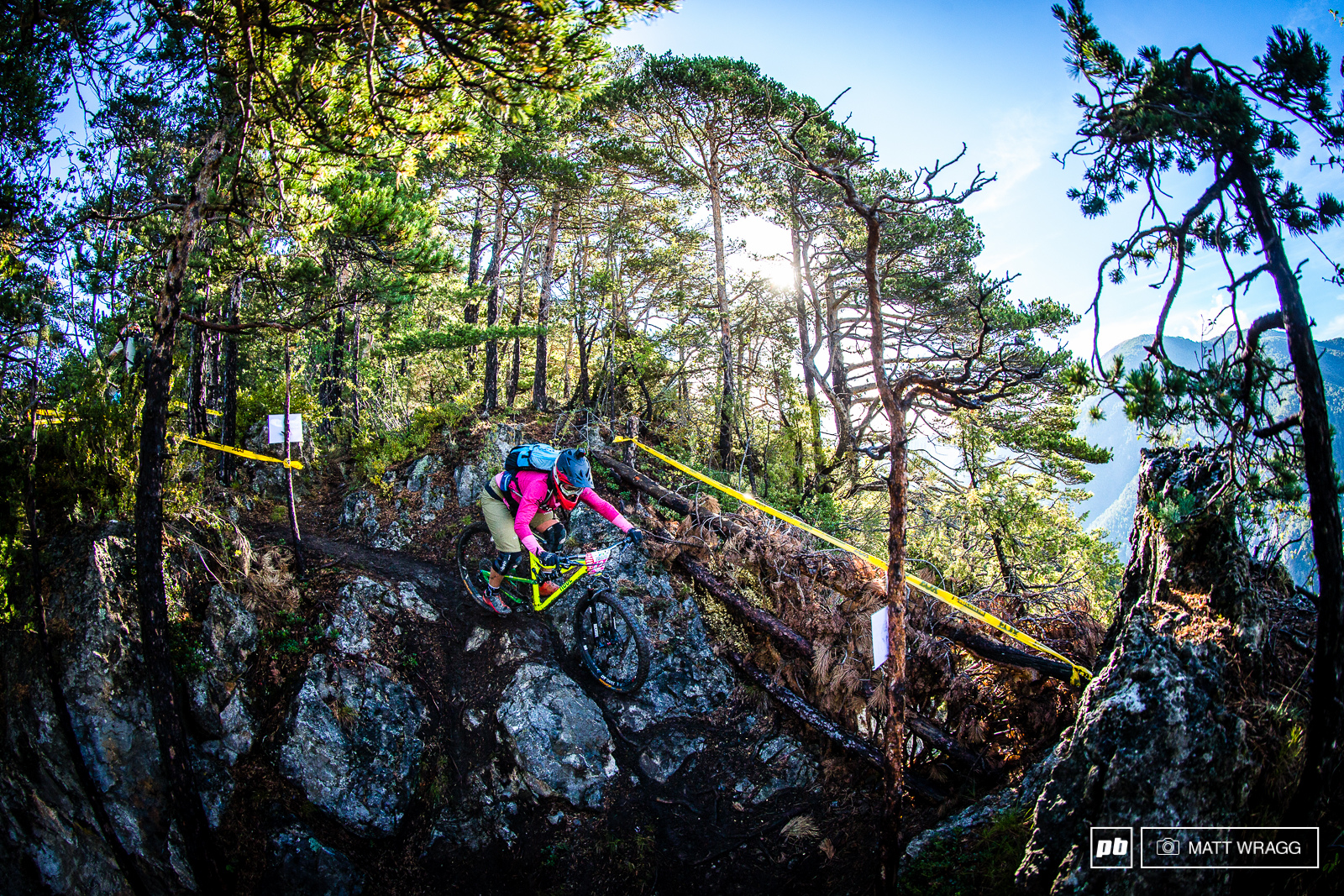 Nathalie Schneitter is back racing EWS this weekend. The Swiss XC pro has racked up some impressive results at the EWS in the past and there s no doubt she s going to have the legs for a long race like this.