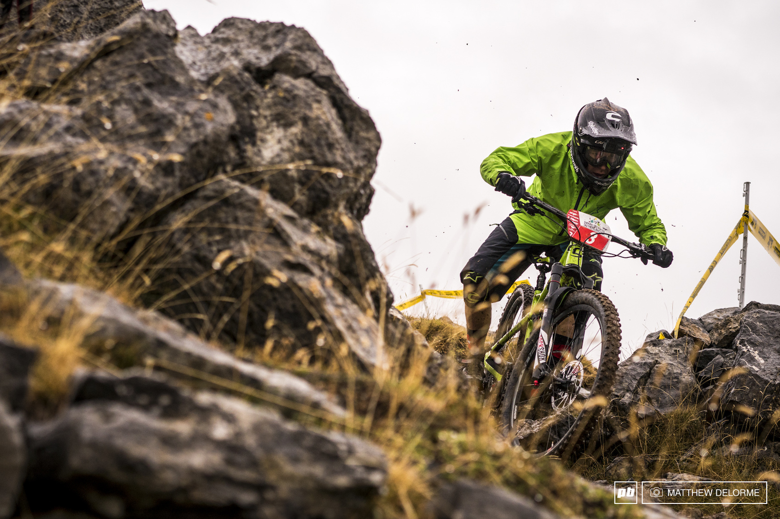 Classic style from Jerome Clementz in the wet. A frenchman could win this one but could Jerome be that man
