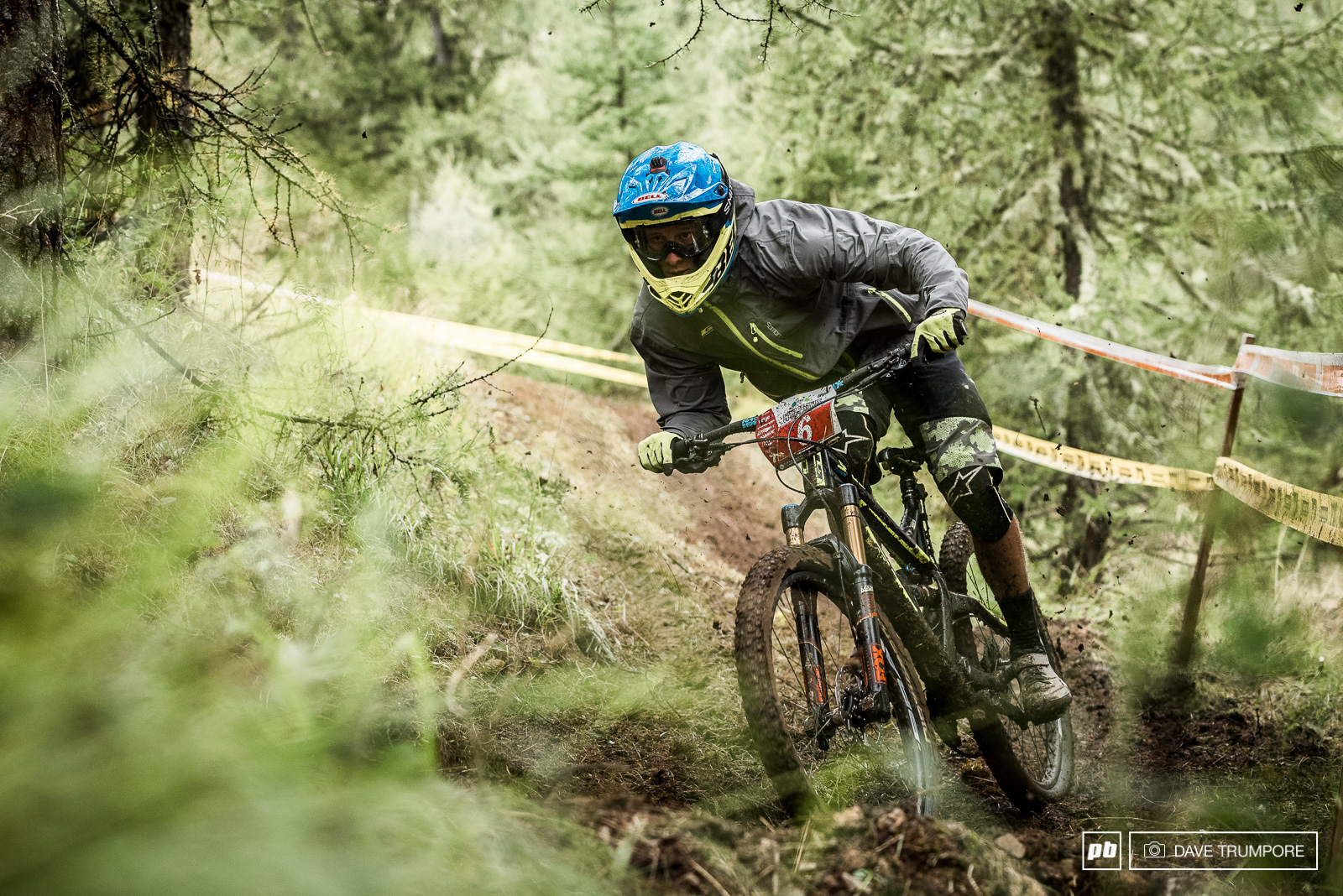 Not afraid to drift about a little Martin Maes has been riding super aggressive in the muddy and slick conditions