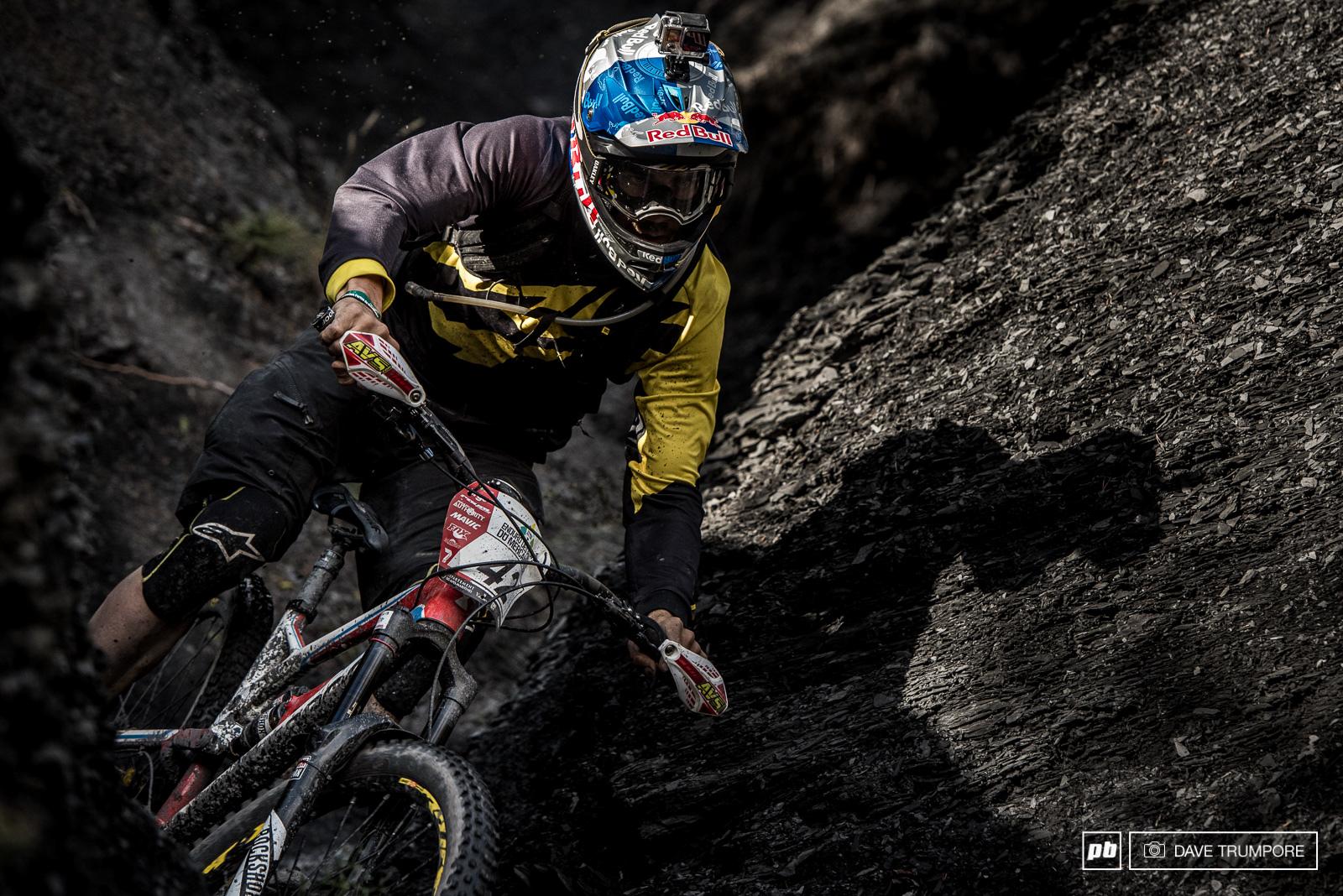 Matti Lehikoinen threads it through the last canyon of grey earth in stage 4.