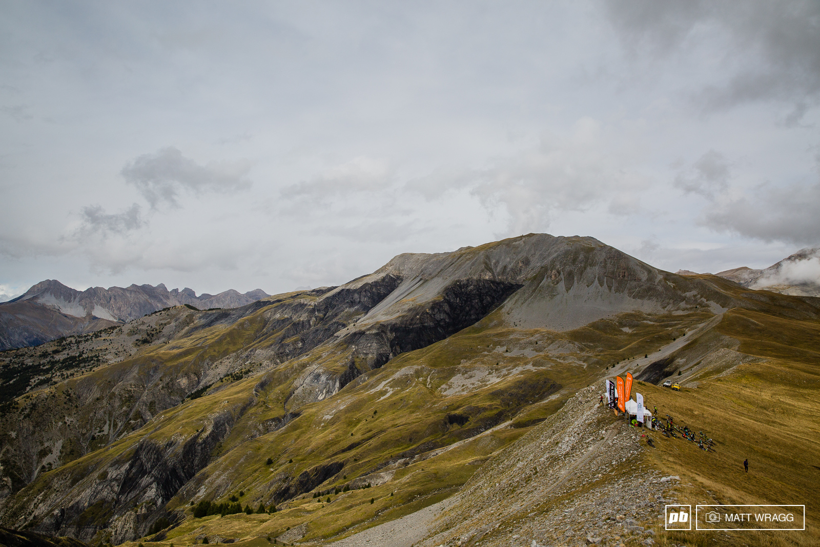 Stage three starts on the ridge at well over 2 000m up. This is about as out there as enduro racing gets.