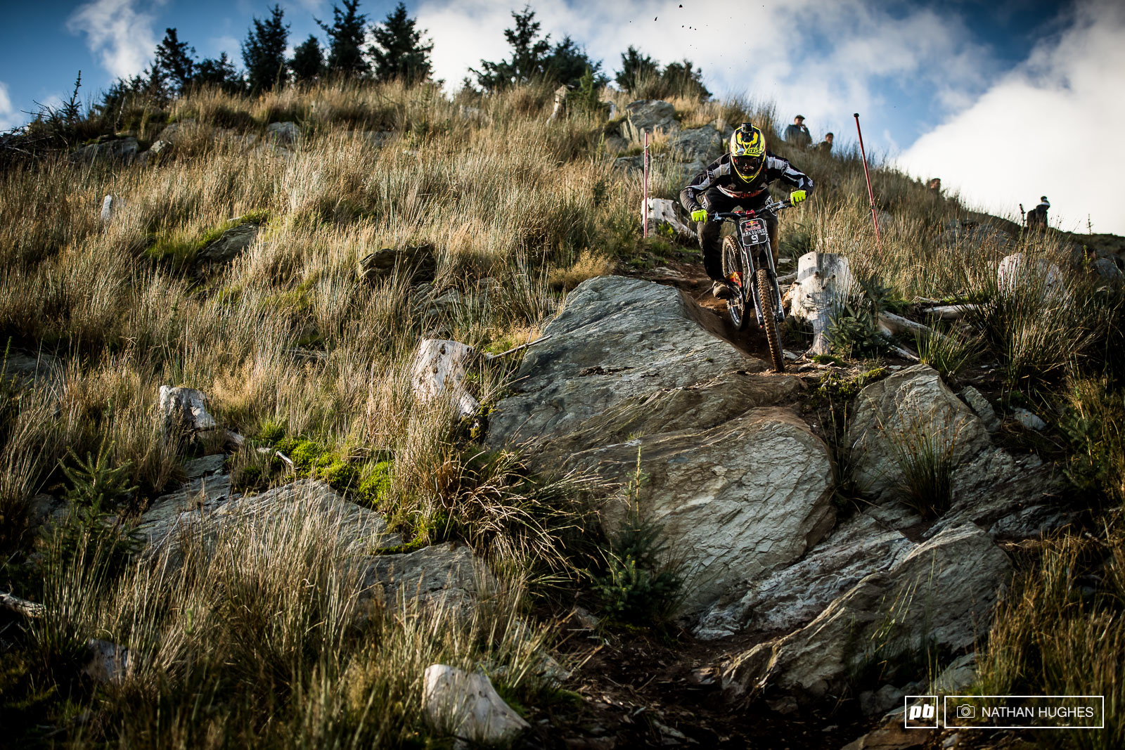 Graeme Mudd tackles the steep tech on the deforested middle section.