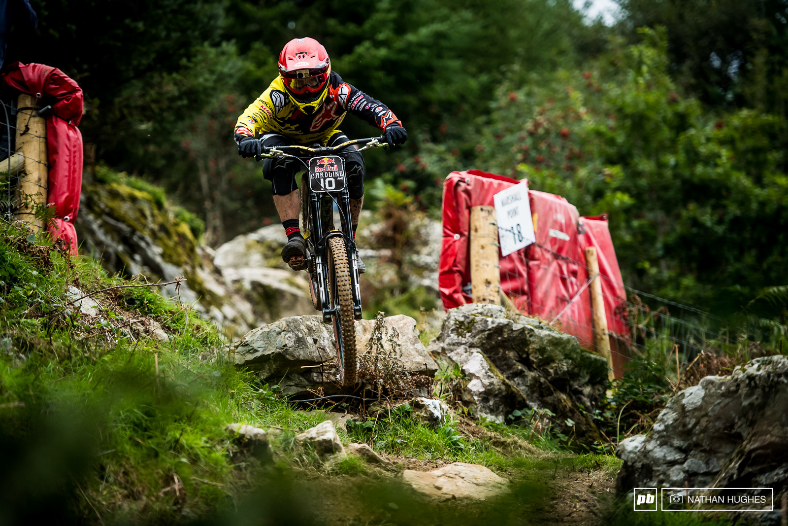 Mick Hannah rampaging through the gnar of the final woods for 6th place.