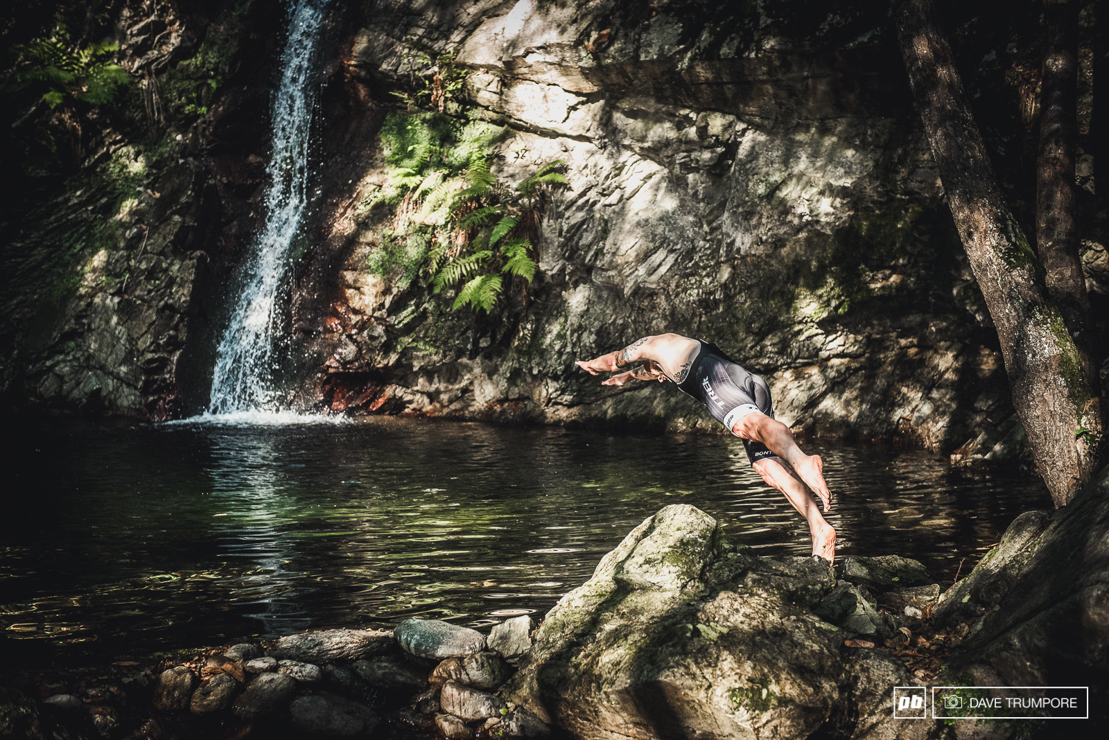 Stage 1 ends with a water fall and a swimming hole in case riders want to beat the heat and take a quick dip before pedaling back up the hill.