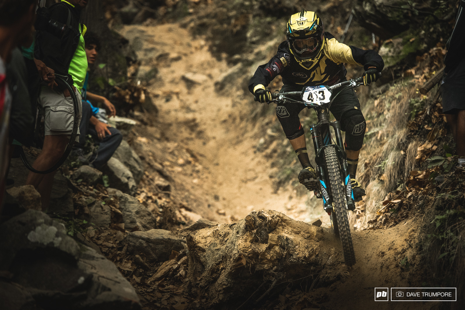 Anne Caroline Chausson is racing her final EWS race this weekend and is sitting in 3rd going into the final day.