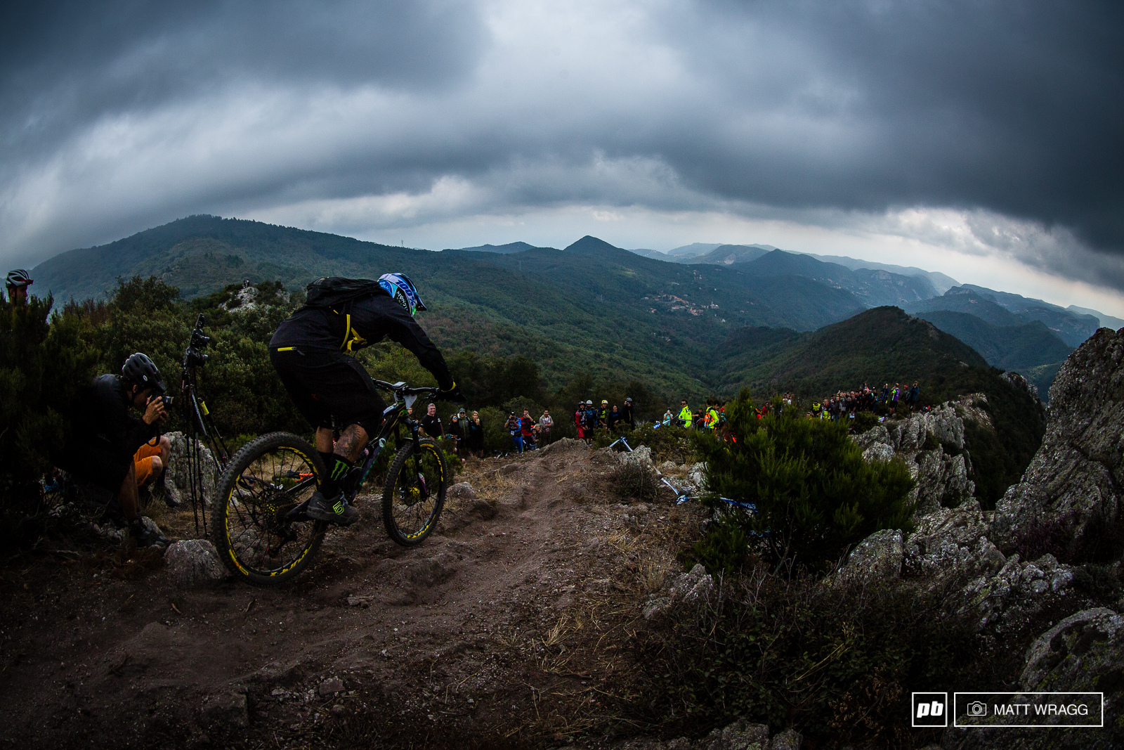 Sam Hill rode to tenth this weekend - keeping his 100 record for top tens at the EWS.