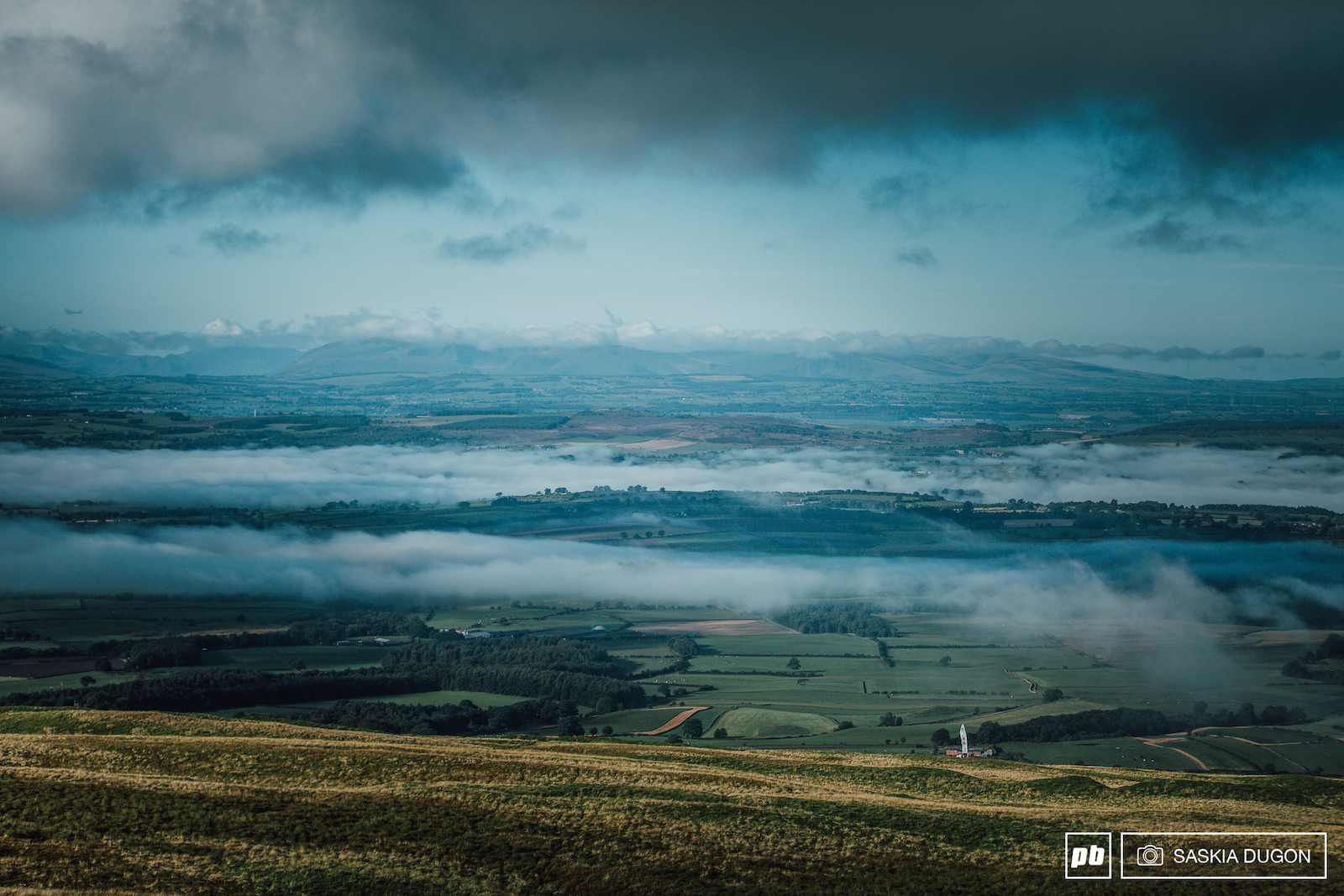 Race day fog and clouds over the Eden Valley before the sun broke through.
