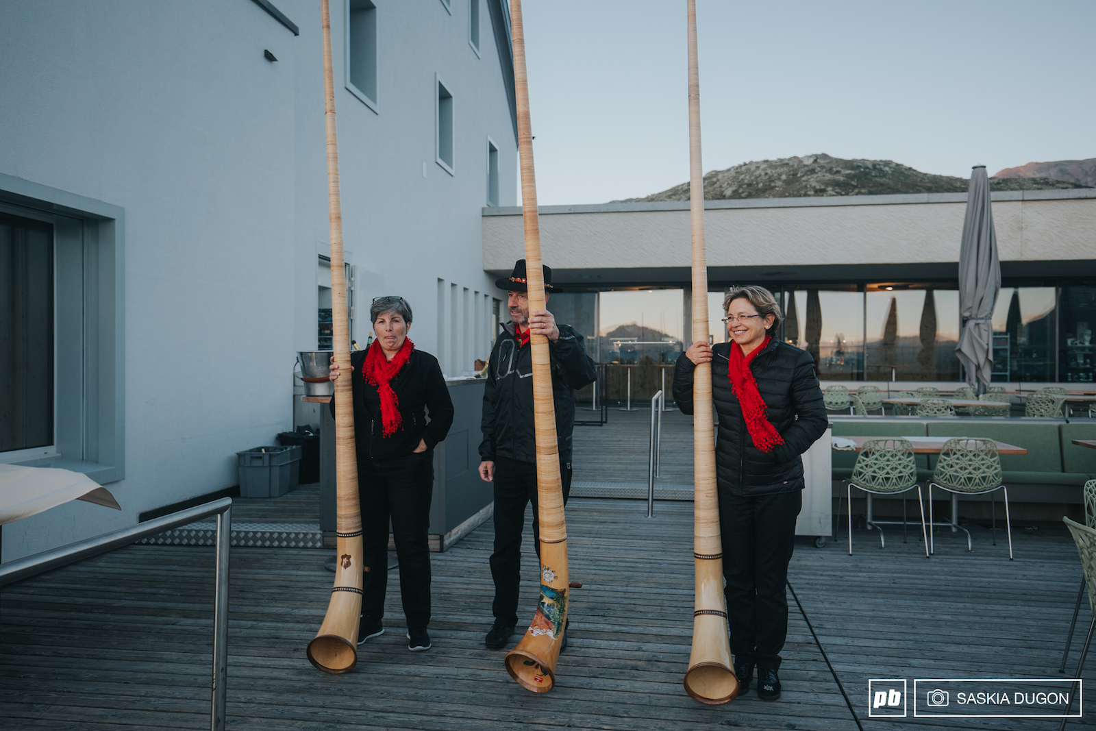 Culture was by no means few and far between in St.Moritz as we were greeted for dinner one night by some beautiful Alpine horn entertainment.